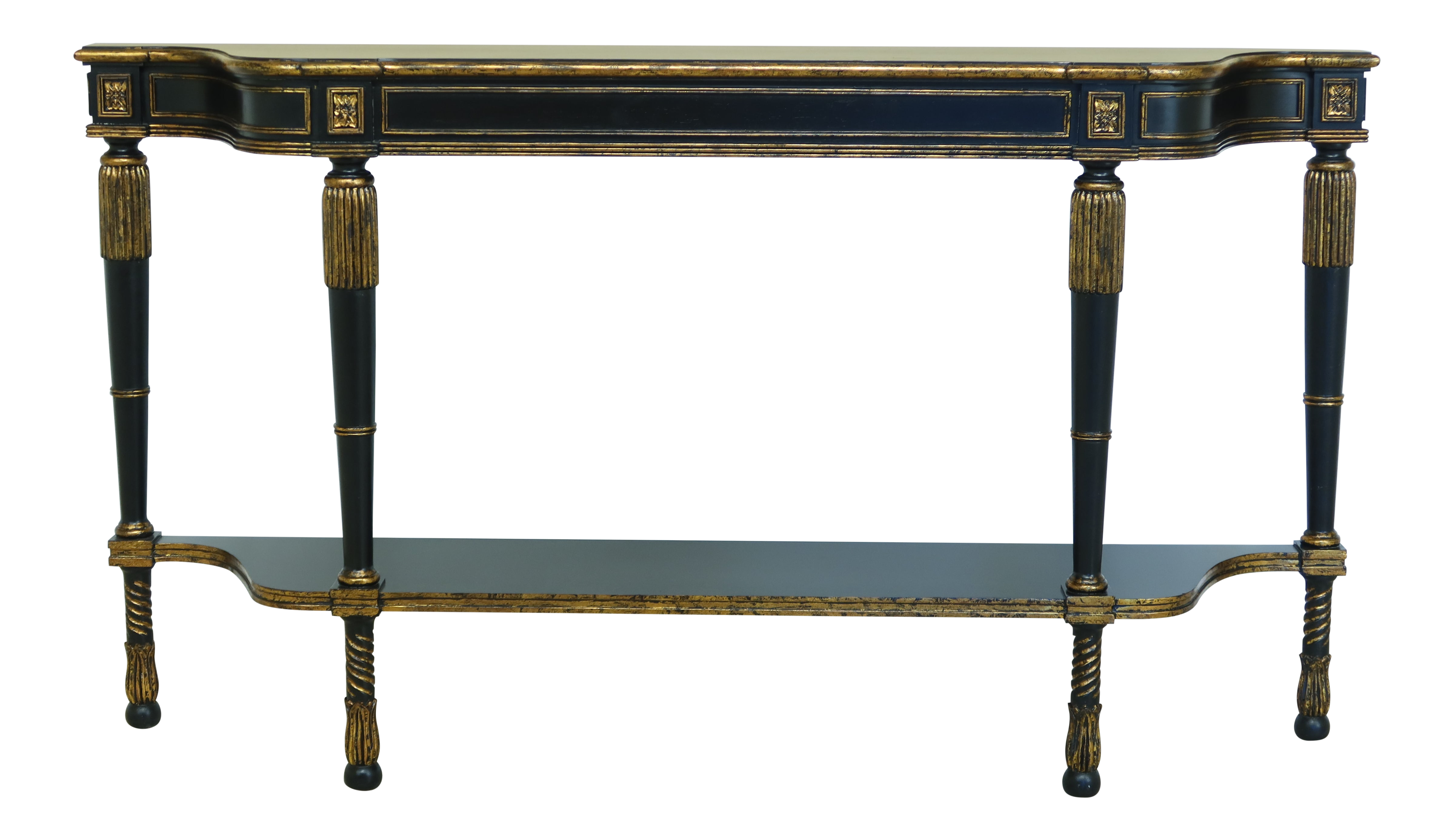 Regency Style Black Gold Console Hall Or Sofa Table Chairish