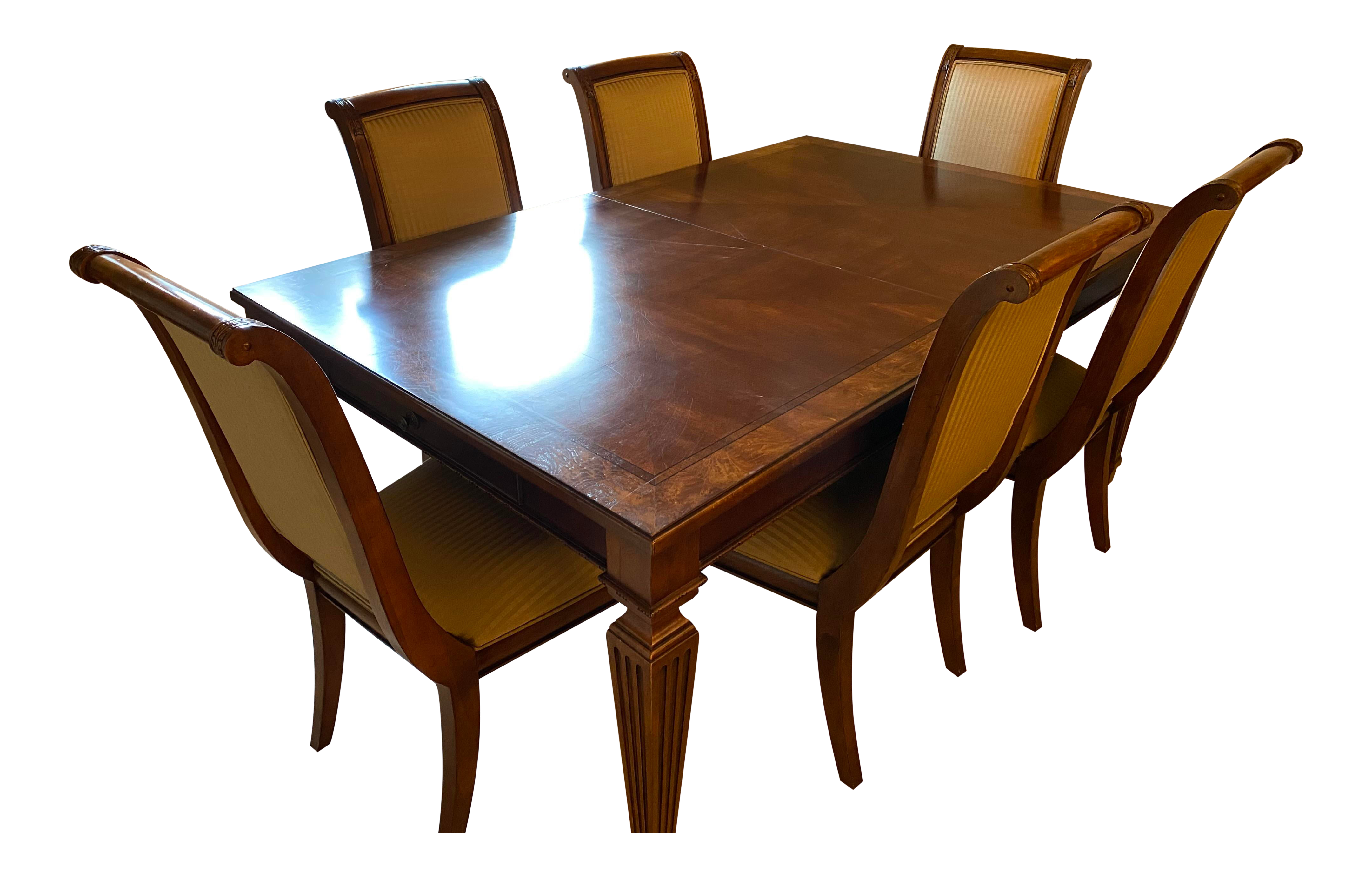 Ethan Allen Dining Table 6 Chairs, Ethan Allen Dining Room Tables