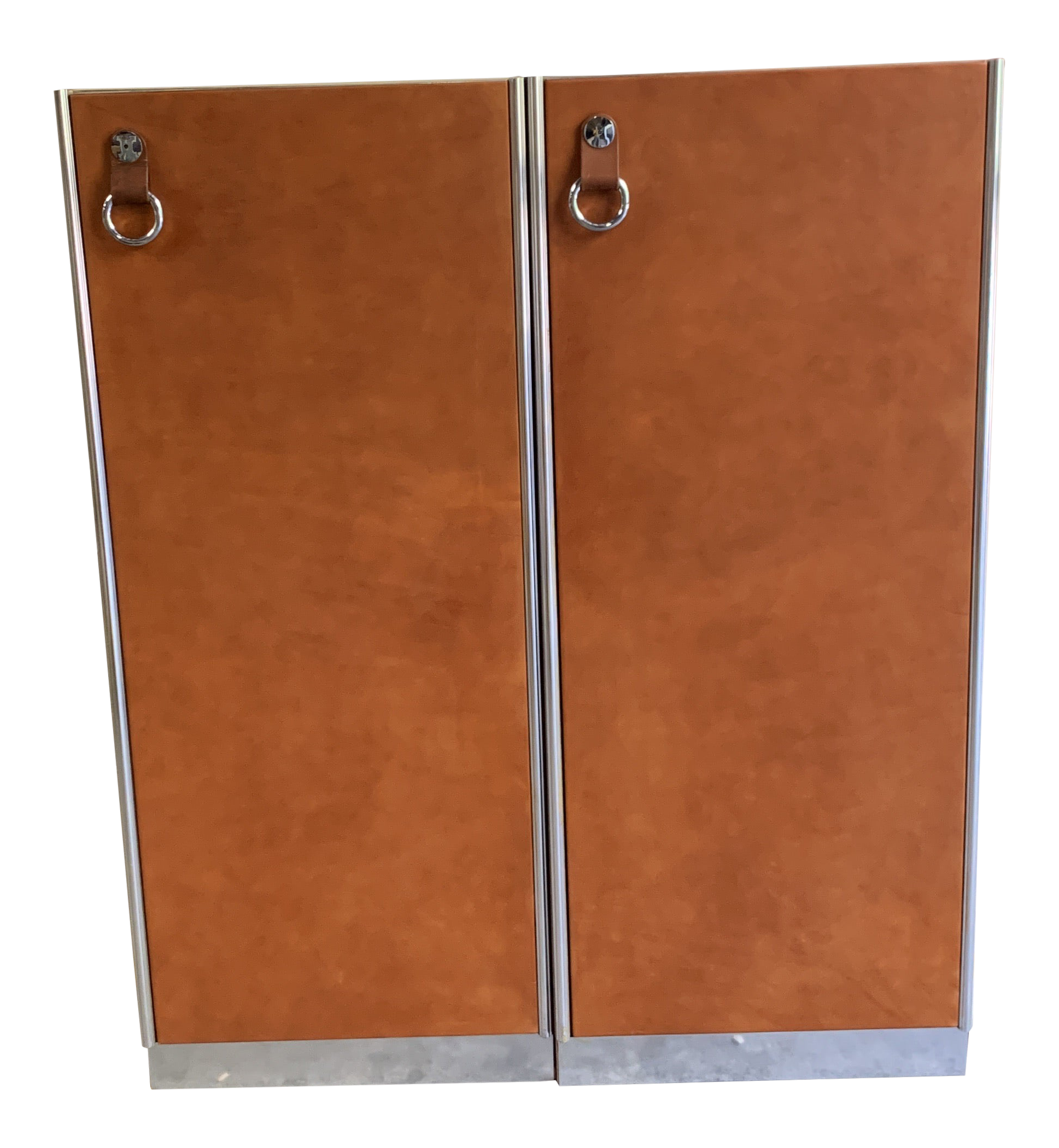 Picture of: Guido Faleschini For Hermes Leather Wardrobe Cabinets A Pair Chairish