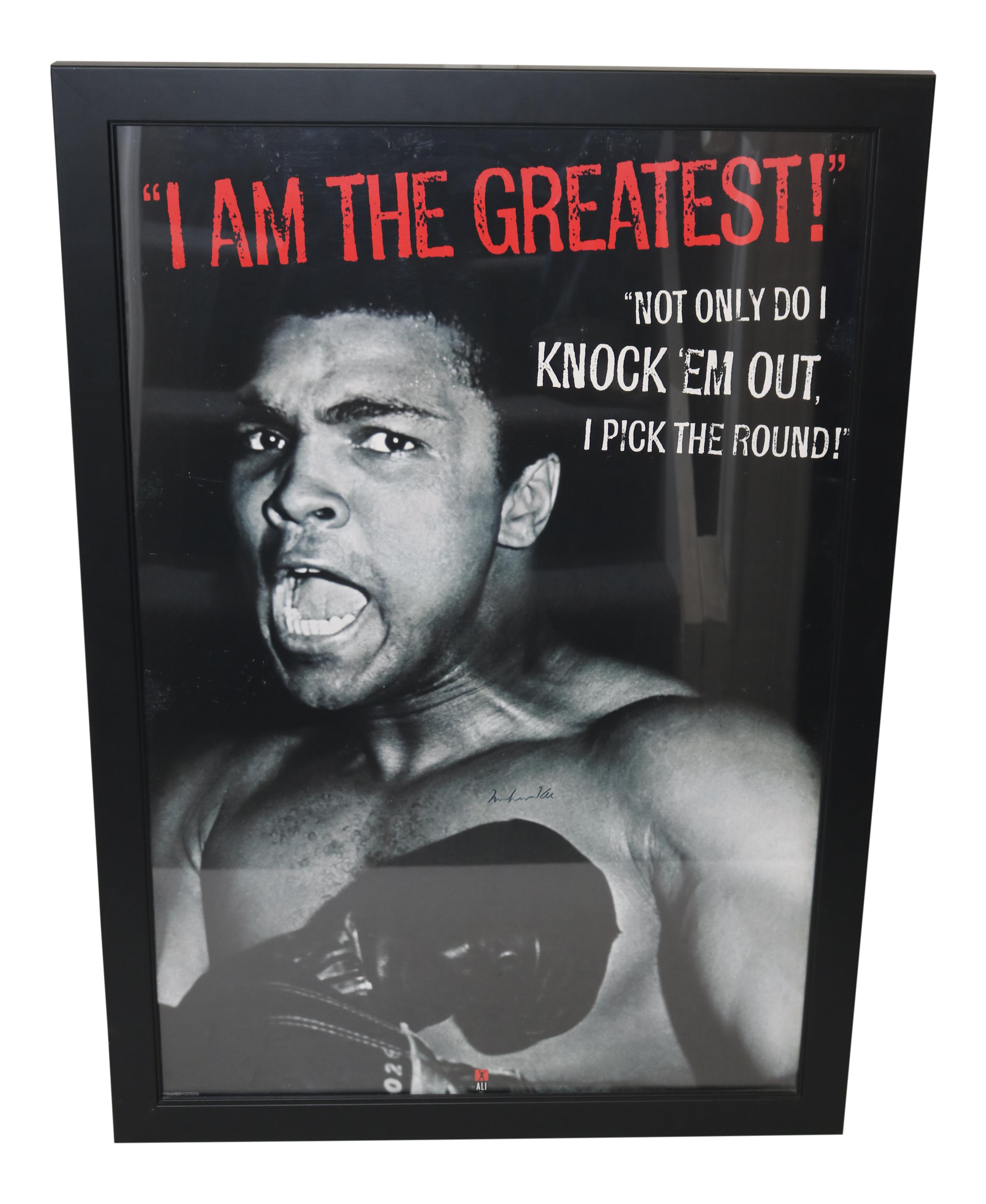 muhammad ali autographed framed poster chairish With kitchen cabinet trends 2018 combined with muhammad ali wall art