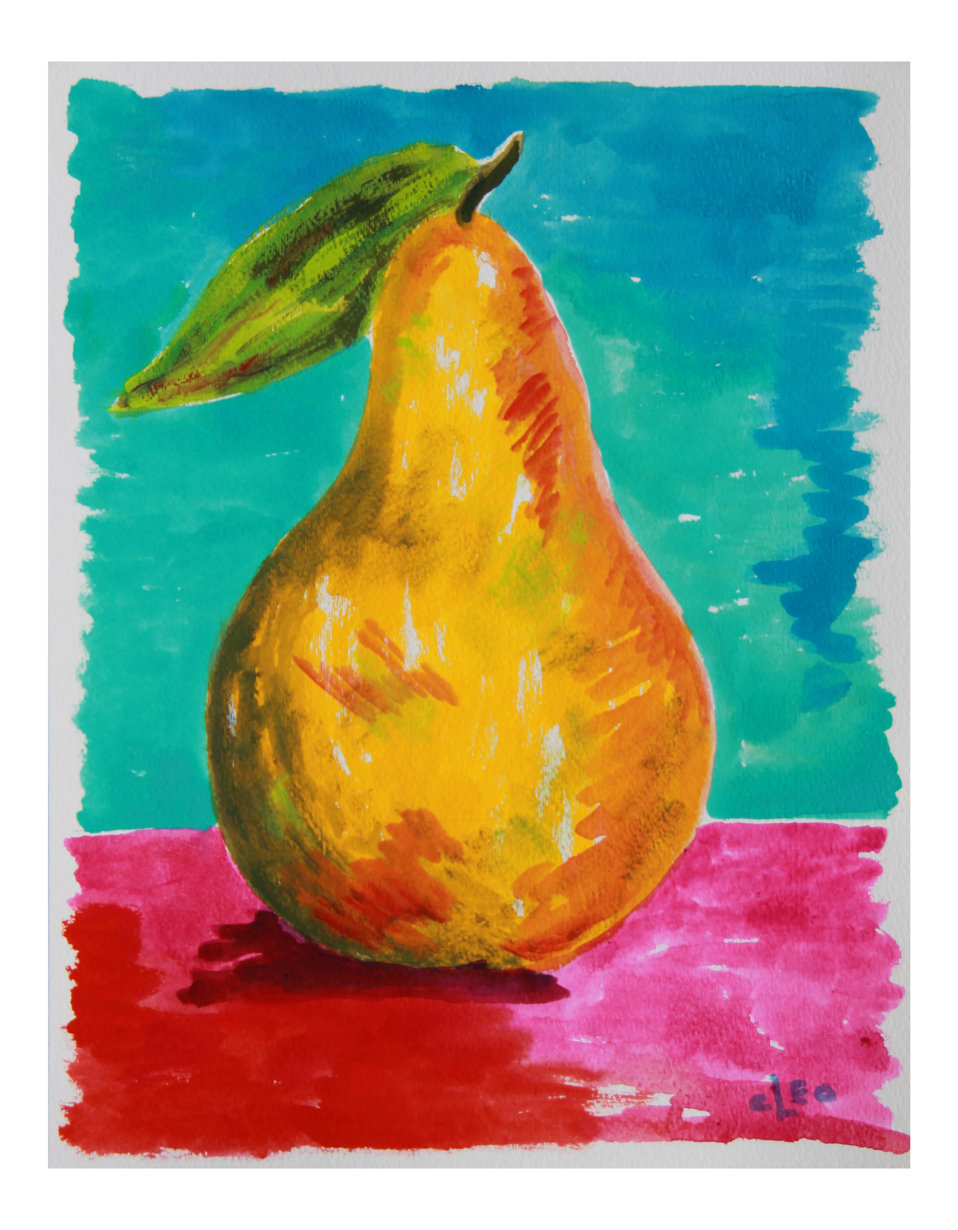 Pear Still Life Abstract Painting by Cleo   Chairish