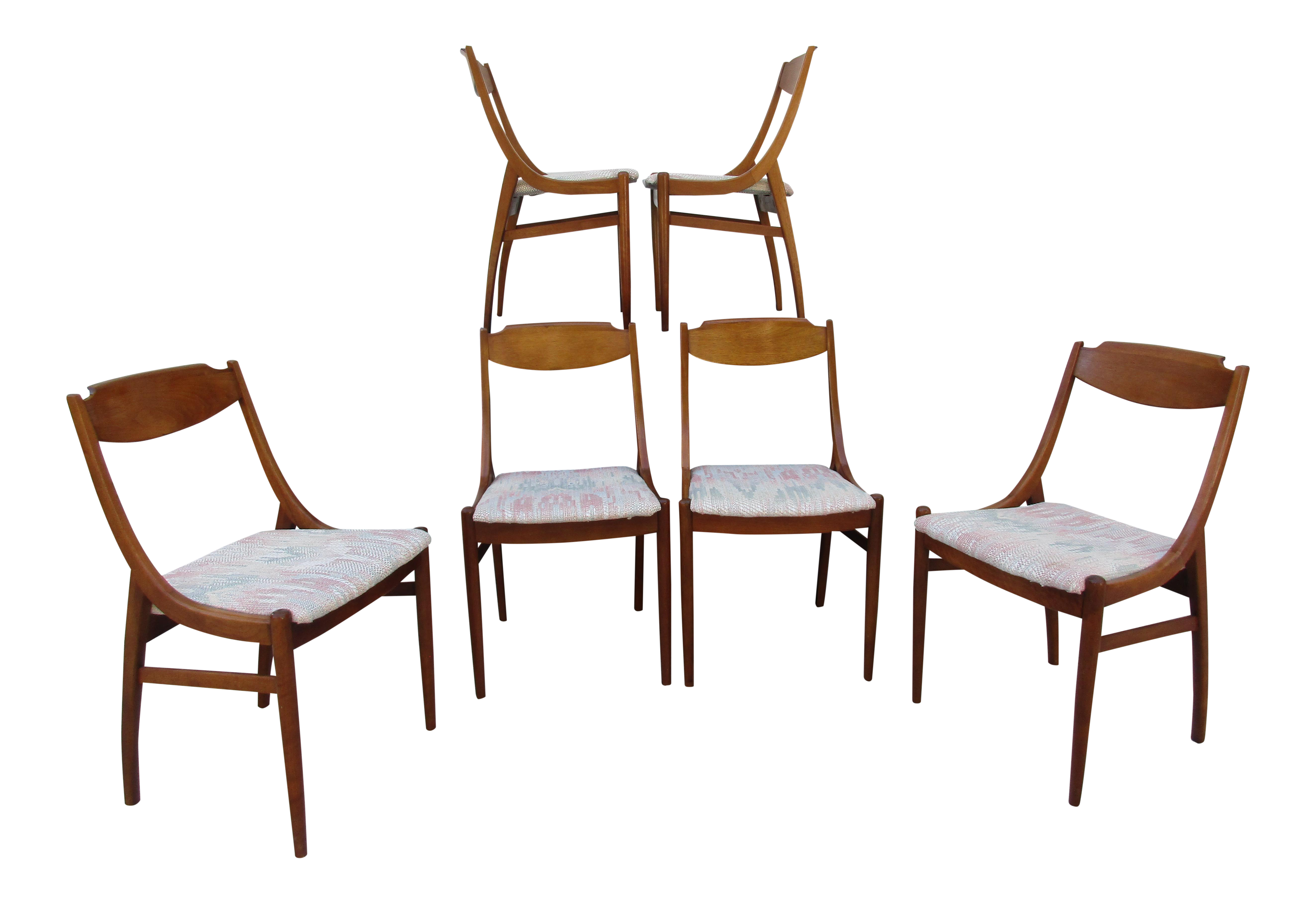 barney flagg for drexel parallel dining chairs set of 6 chairish