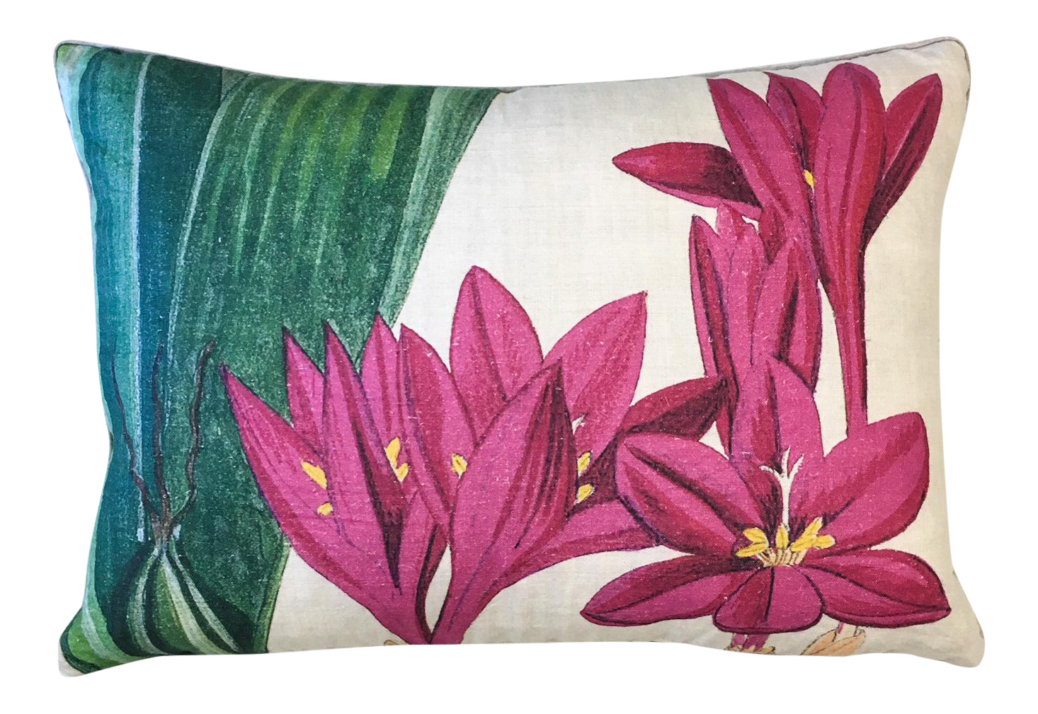 Design Legacy Hot Pink Floral Pillow Chairish