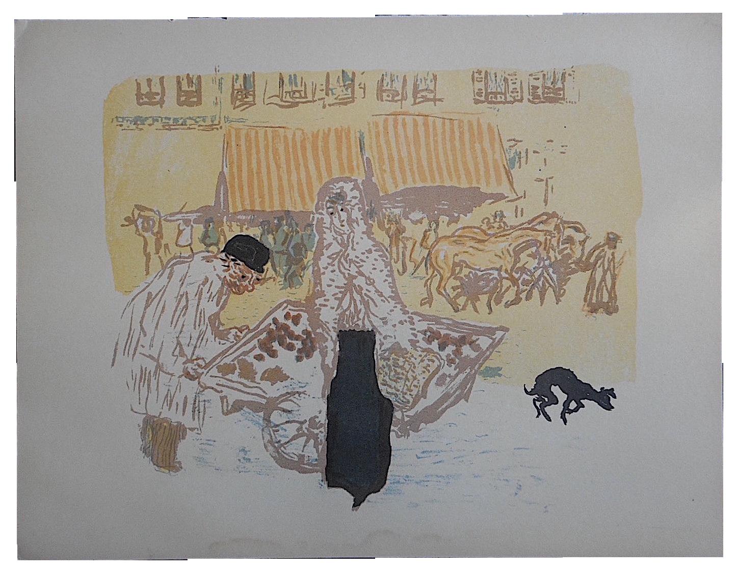 Vintage pierre bonnard lithograph paris scene chairish for 0co om cca 9 source table