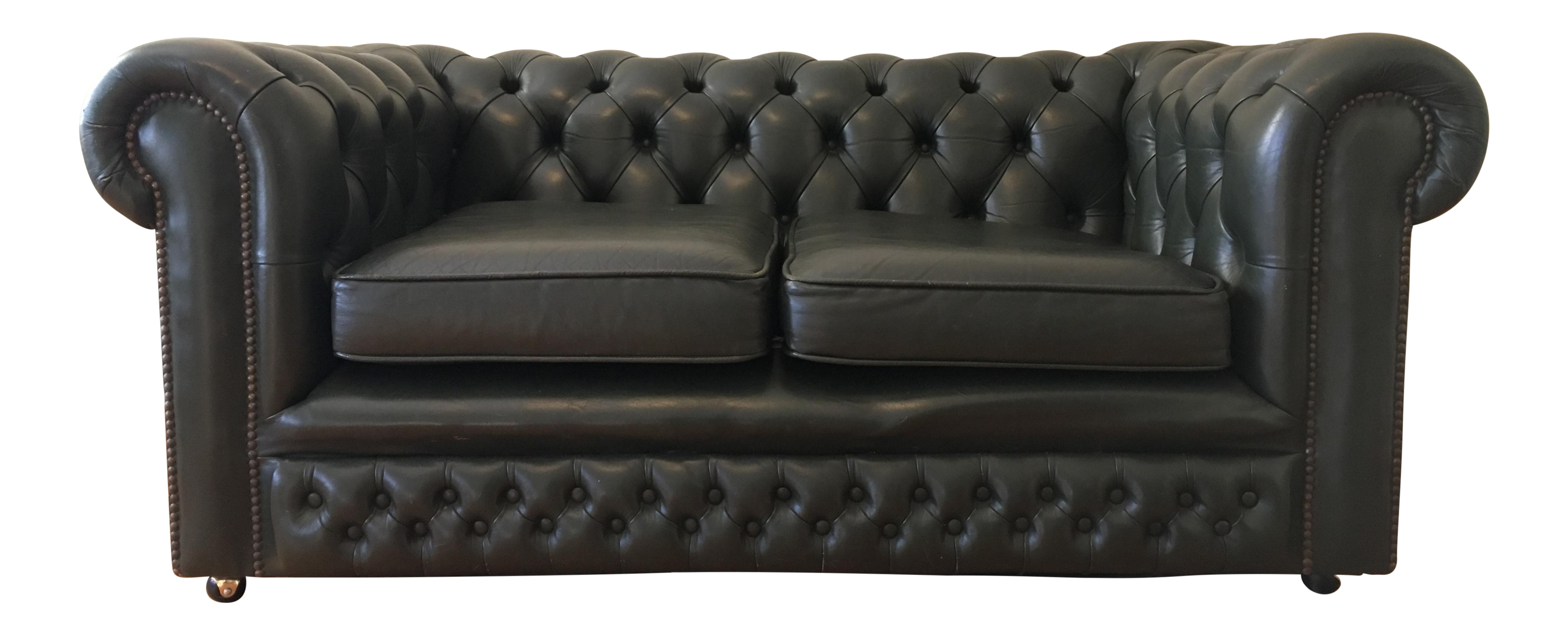 vintage english chesterfield sofa chairish. Black Bedroom Furniture Sets. Home Design Ideas