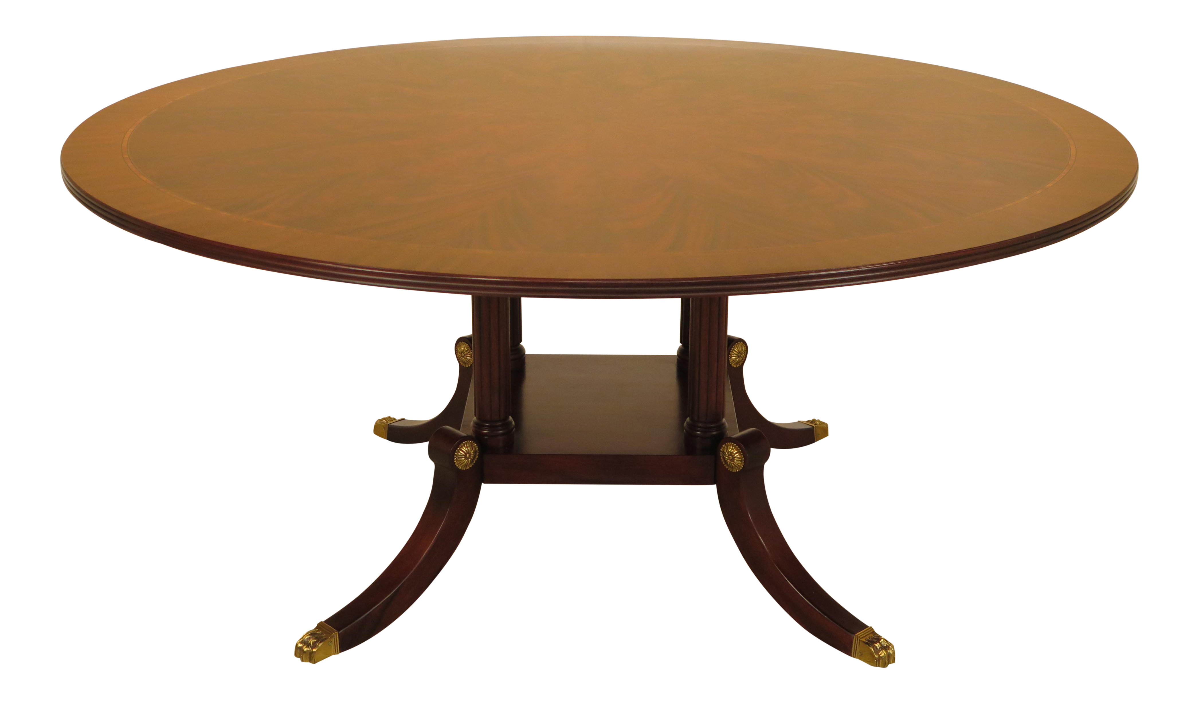 Henkel harris round mahogany dining room table chairish dzzzfo