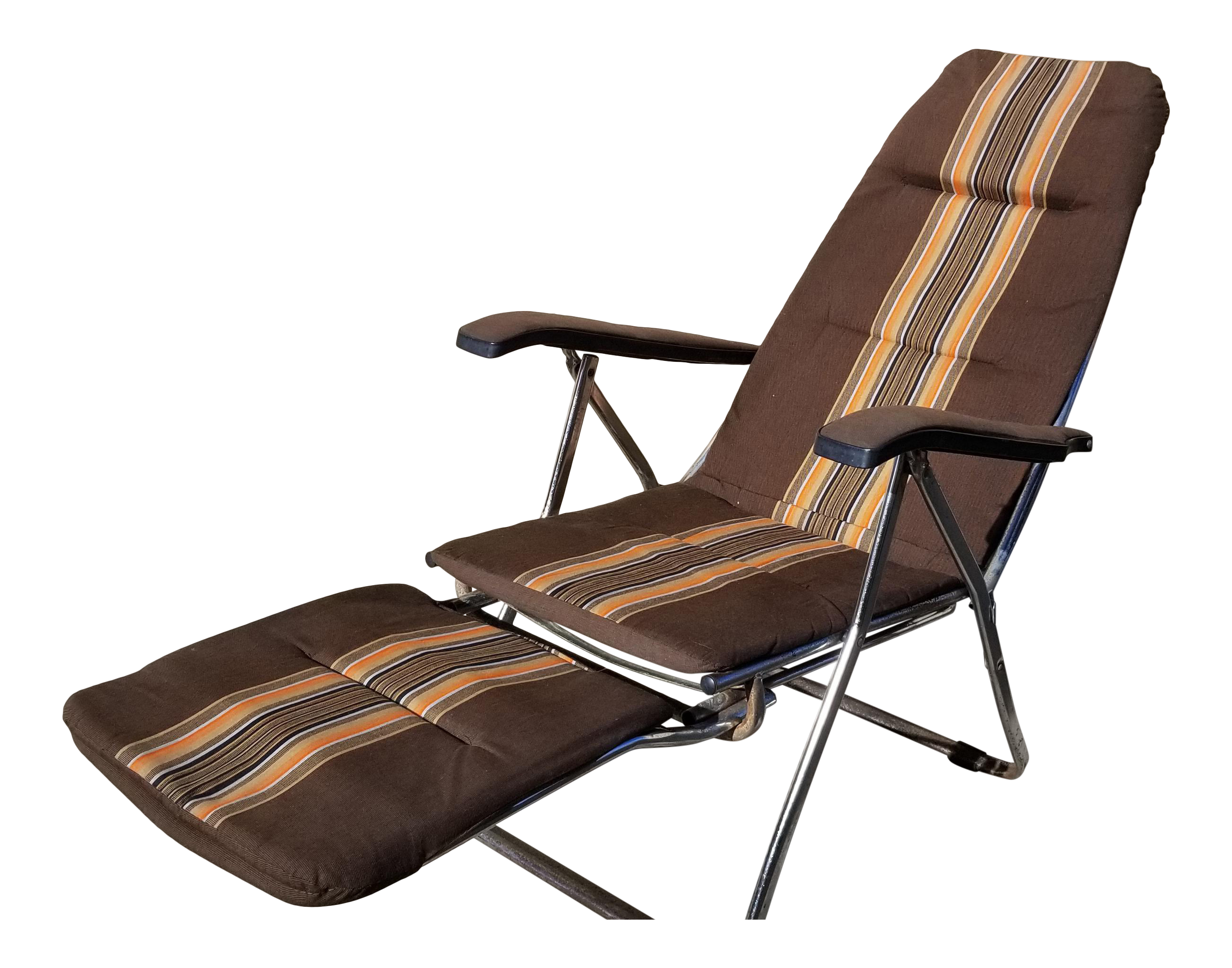 Remarkable Vintage Mid Century Maule Marga Reclining Airstream Camper Chair Foot Rest Creativecarmelina Interior Chair Design Creativecarmelinacom