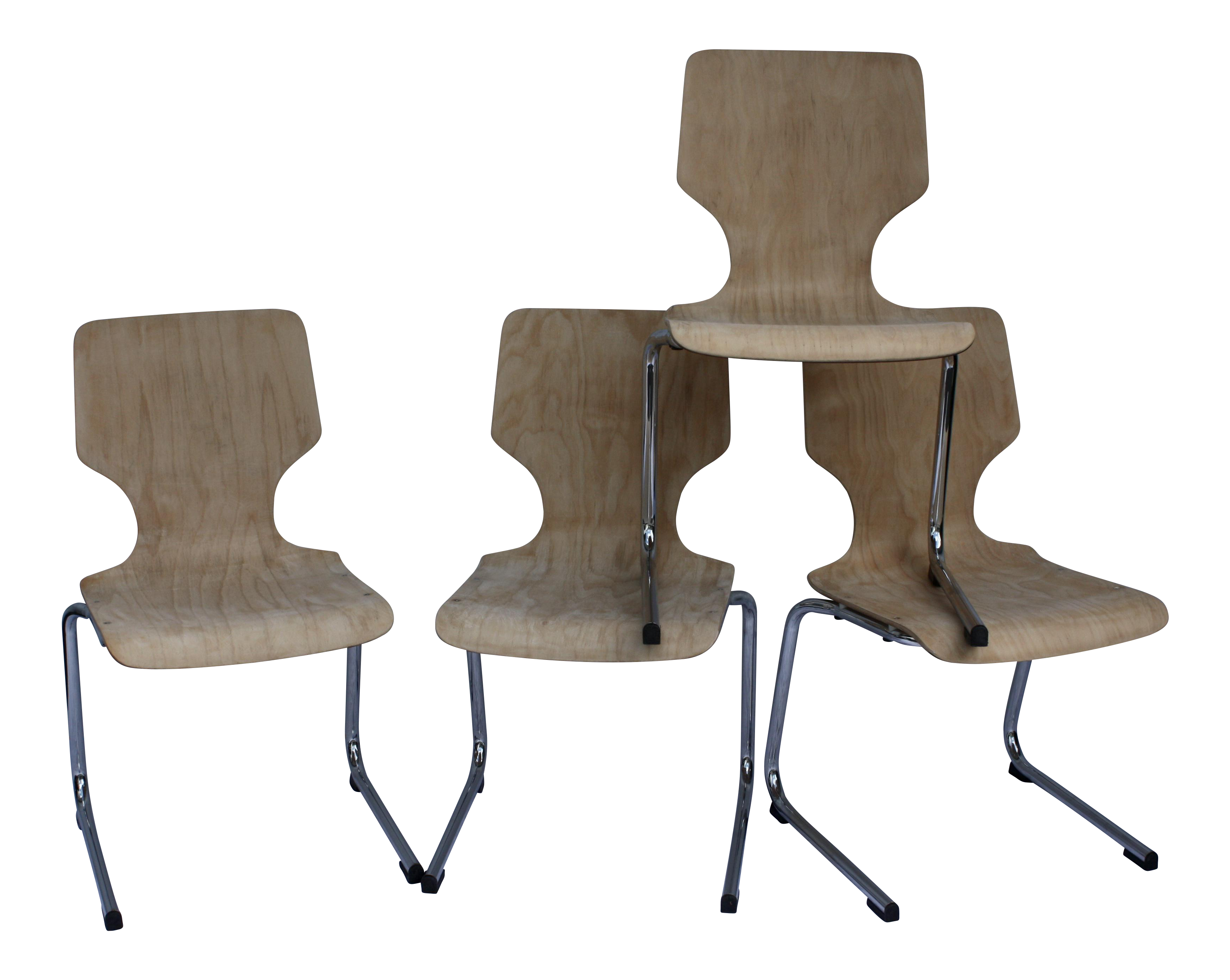 1960s West German Pagwood Chairs Set Of 4 Chairish