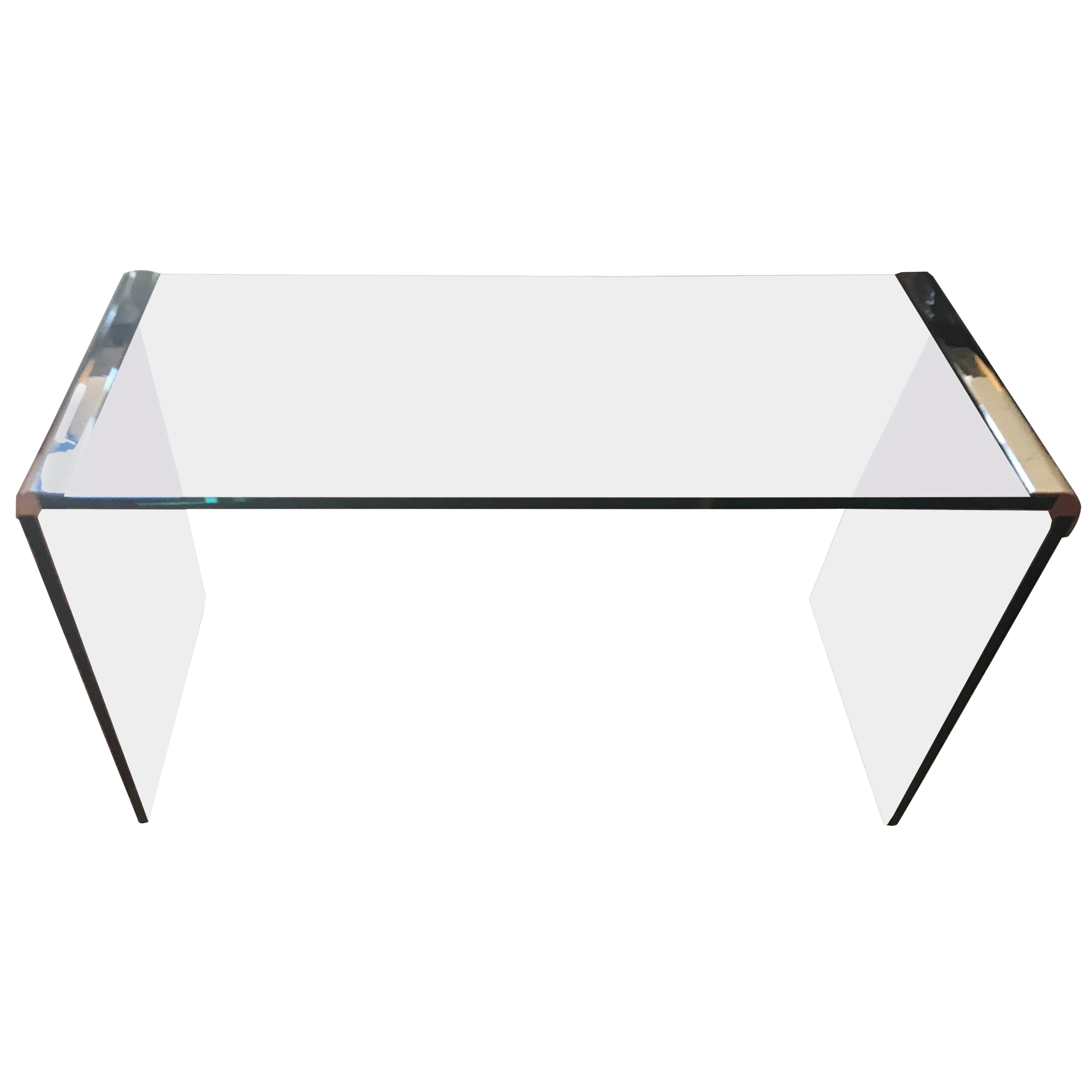 Glass And Chrome Waterfall Pace Collection Console Table Chairish