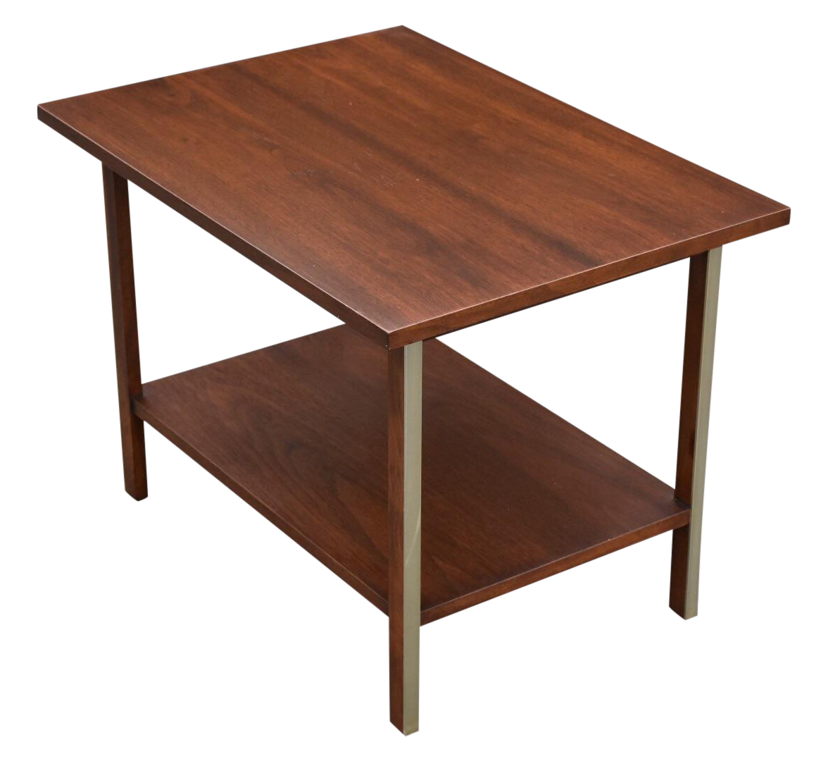 Paul McCobb Calvin Walnut End Table Chairish - Calvin coffee table