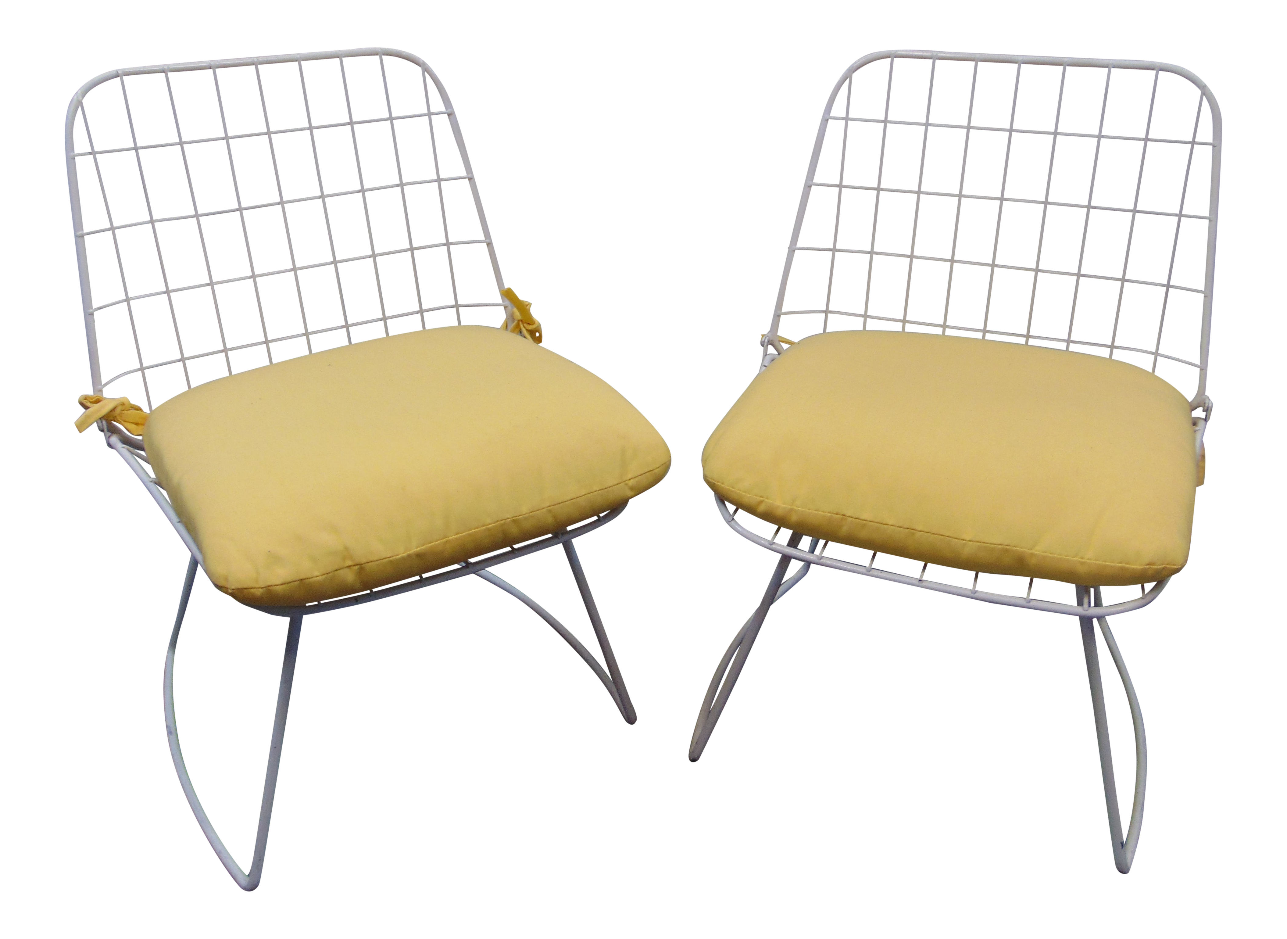 Mid Century Modern Wire Style Chairs A Pair Chairish
