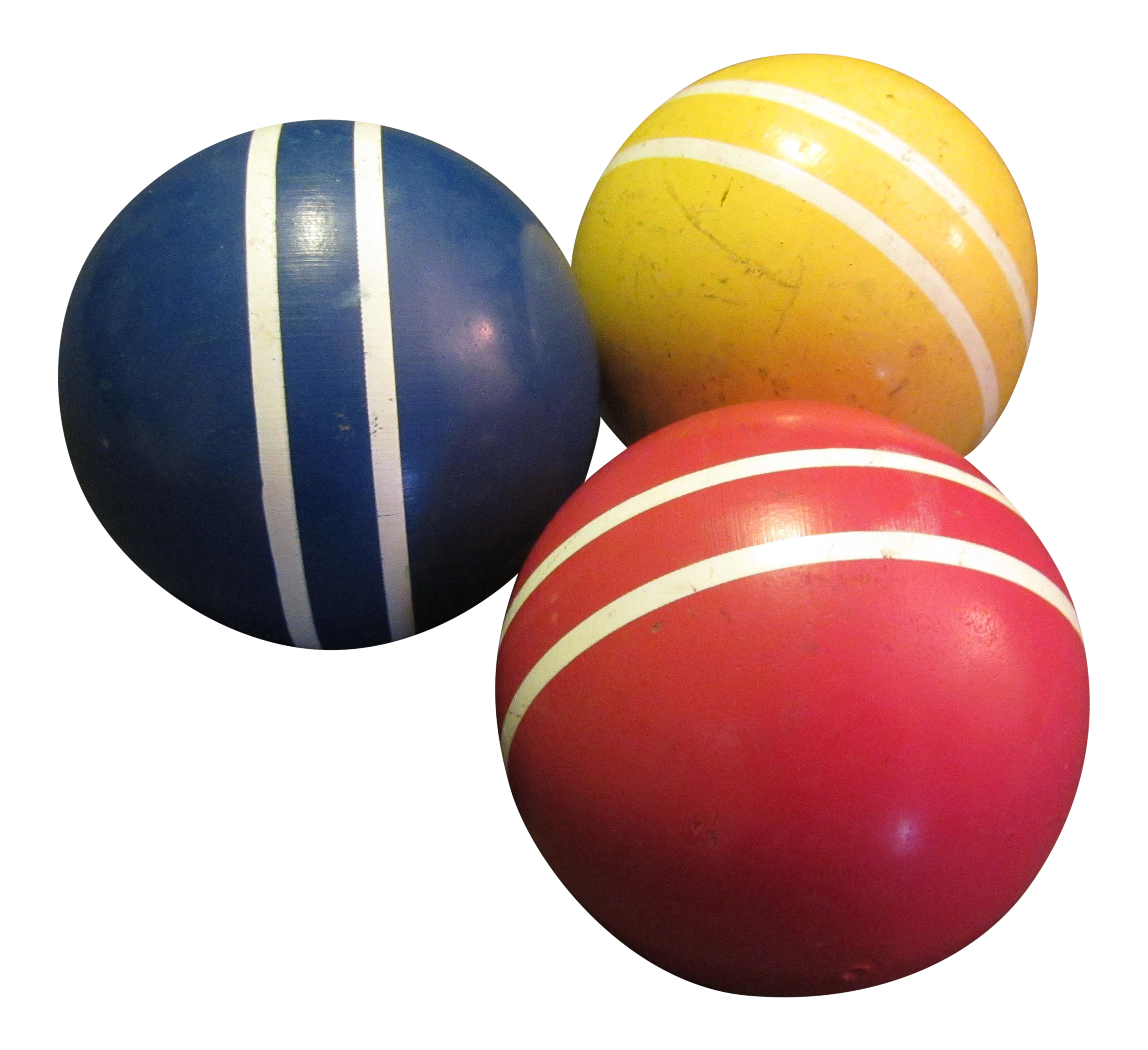 Primary Color Croquet Balls Set Of 3 Chairish