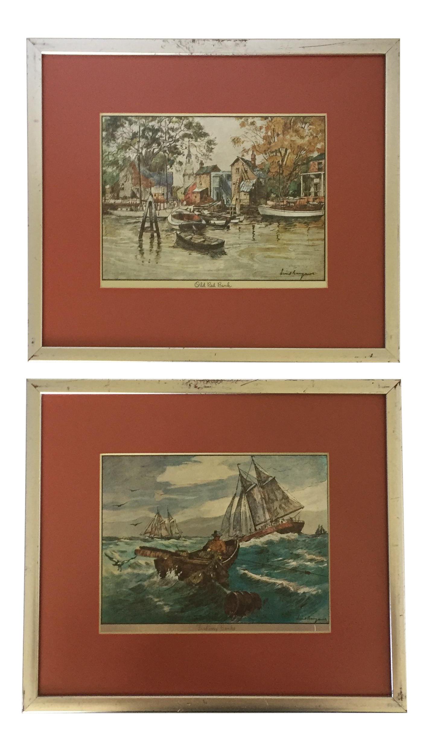 Framed Lionel Barrymore Nautical Prints A Pair Chairish