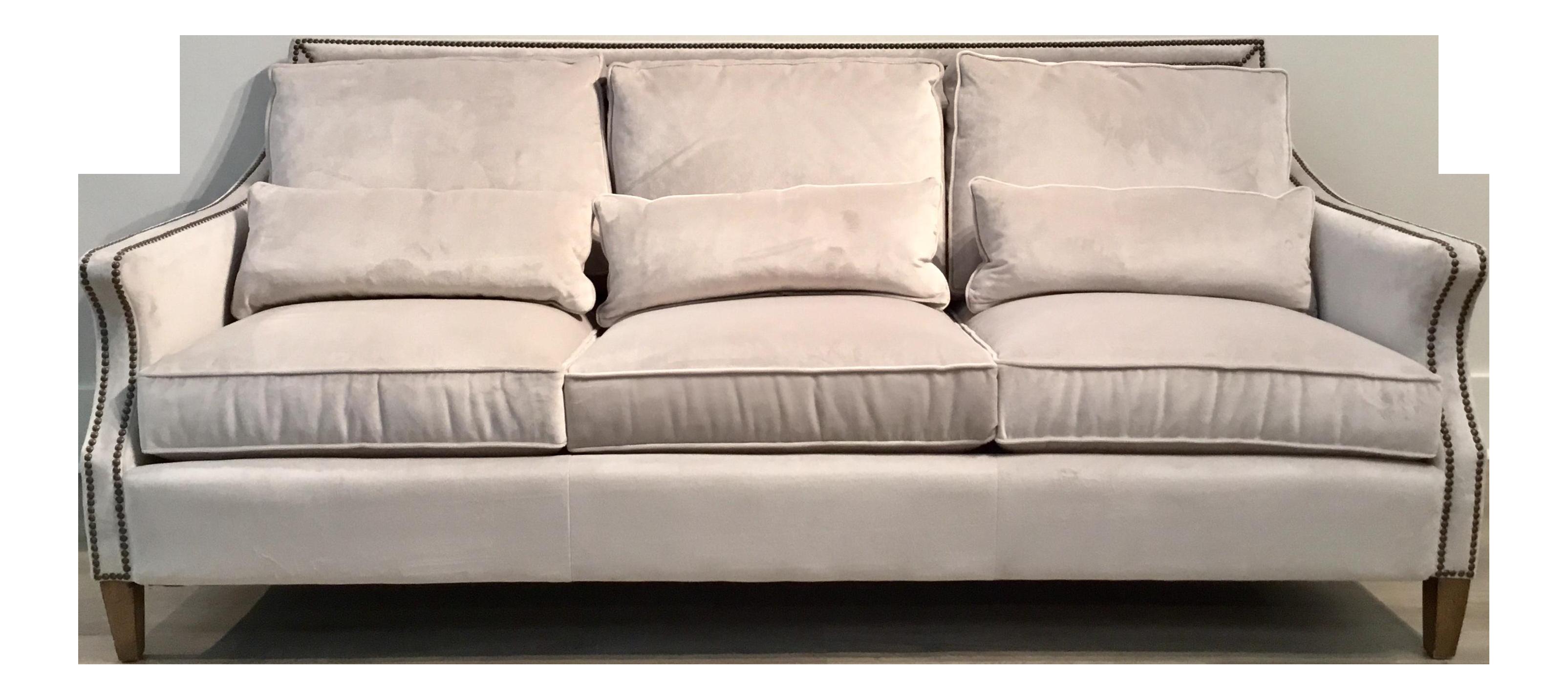 Thomasville Modern Gray Velvet Sofa