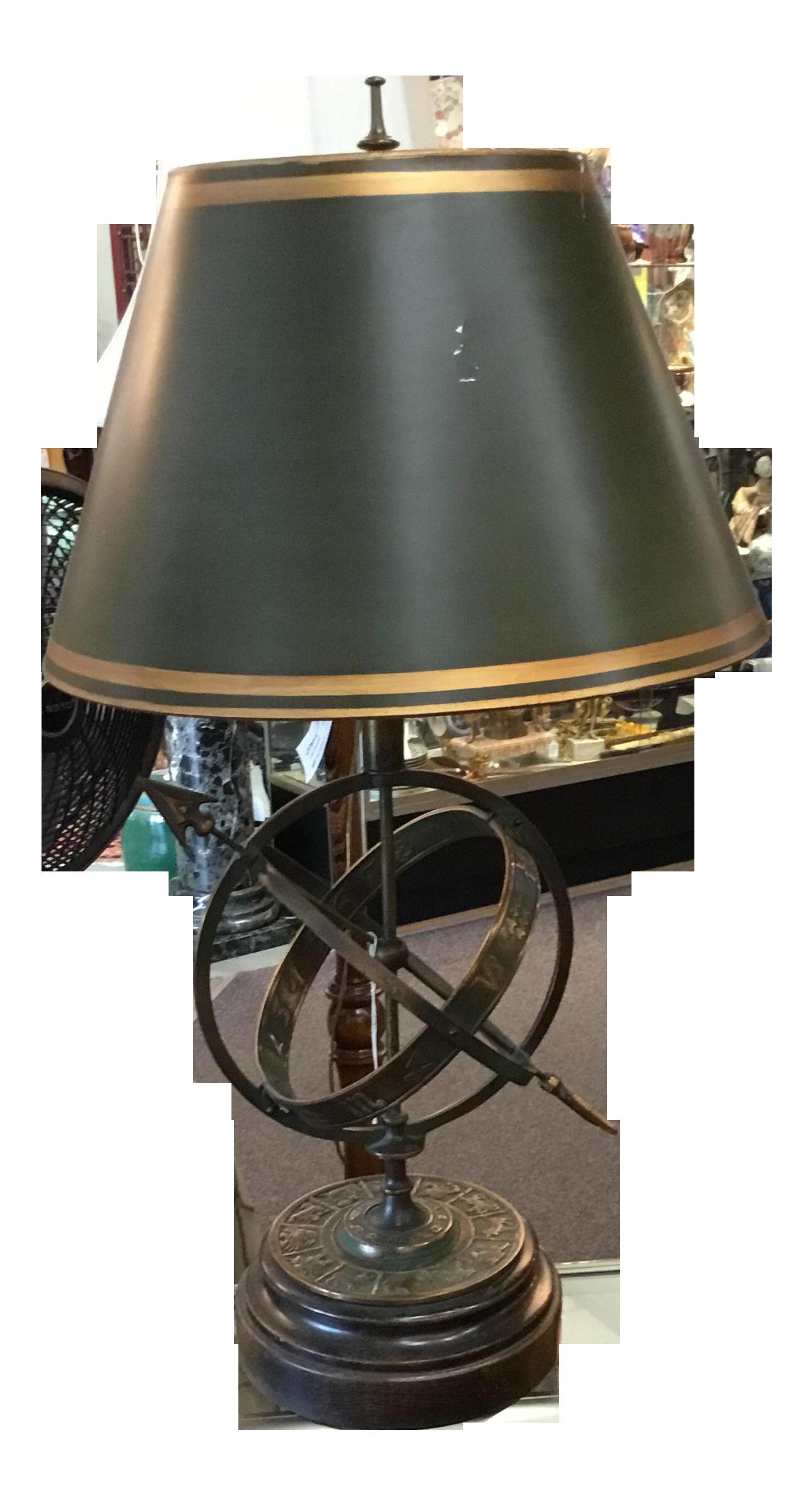 Frederick cooper bronze zodiac lamp chairish