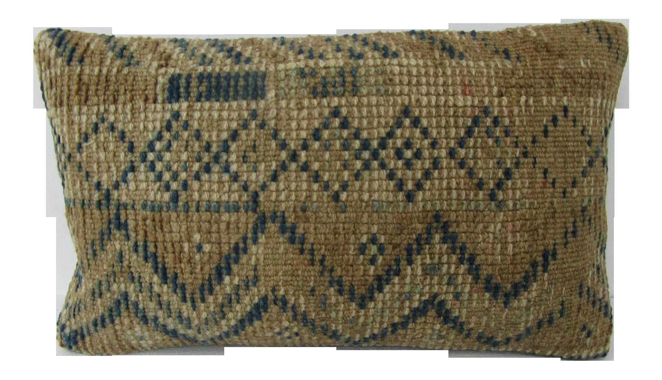 Brown Navy Blue Vintage Unique Pillow Chairish