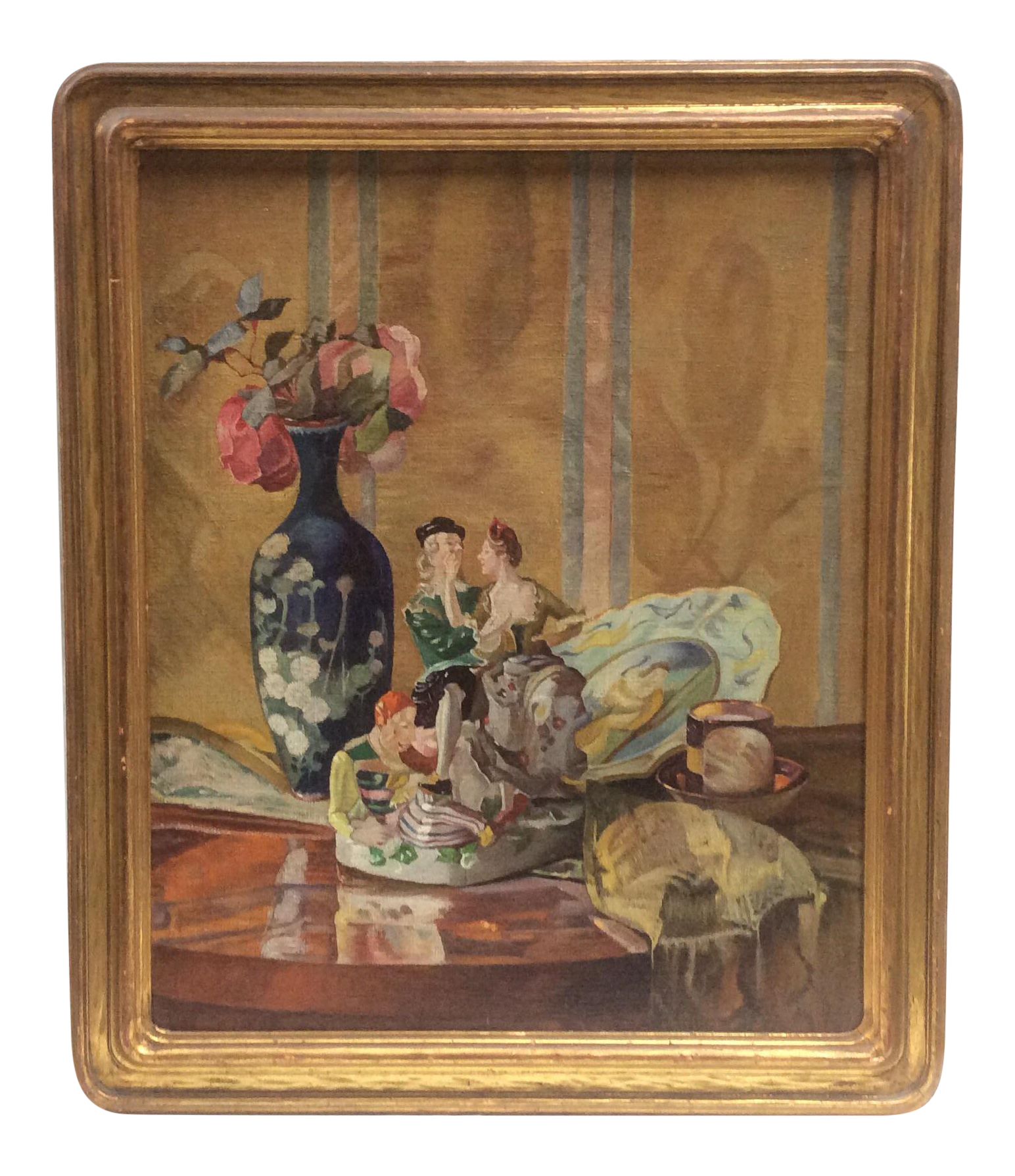 Antique Porcelain Figurines Still Life
