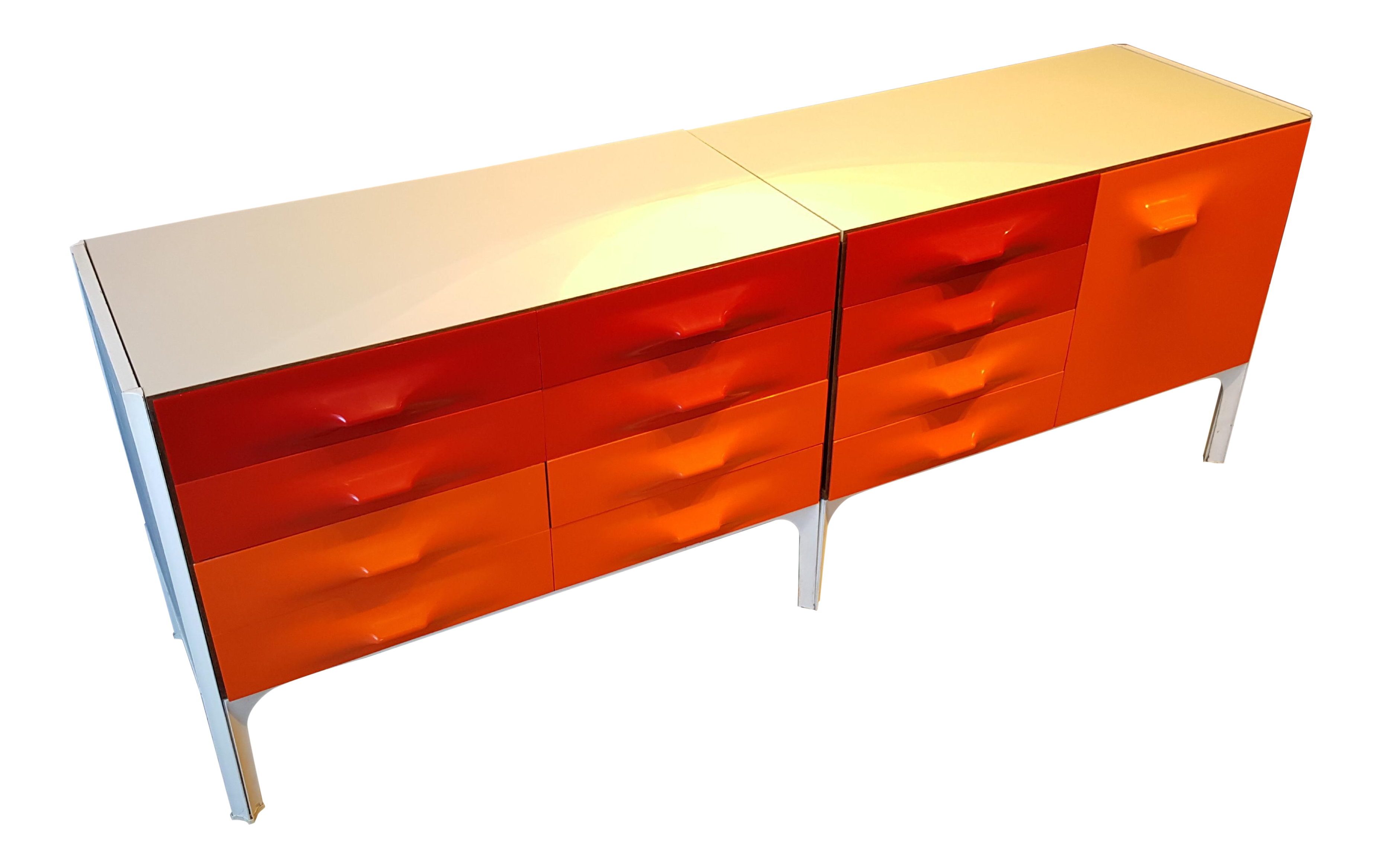 Space Age Raymond Loewy Df 2000 Credenza For Doubinsky Frères, France, Rare
