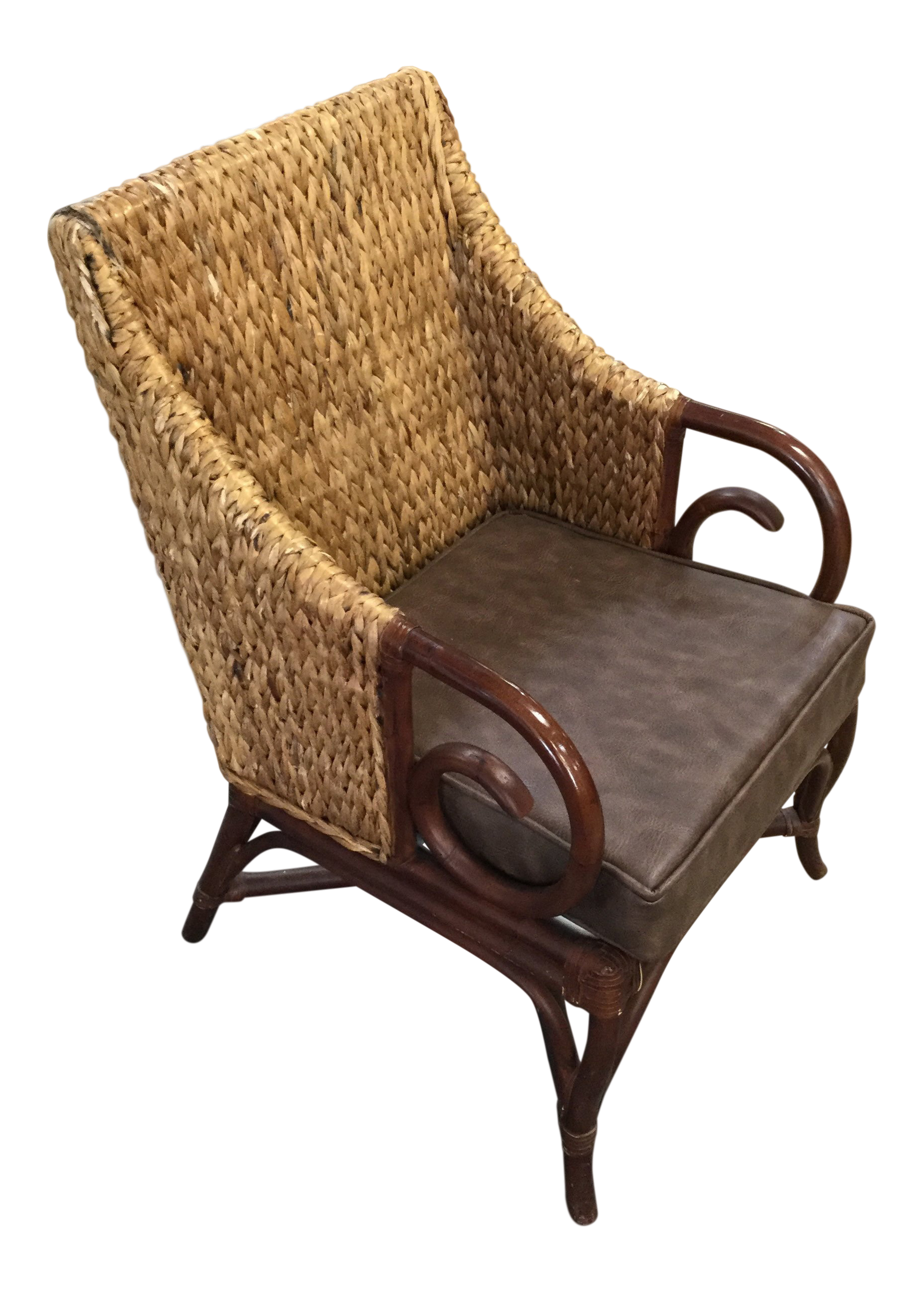Wicker Accent Chairs.Traditional Padmas Plantation Wicker Accent Chair