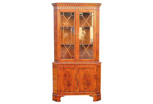 Mid Century Corner Cabinet: 1950's Mid-Century Modern Corner Curio Cabinet