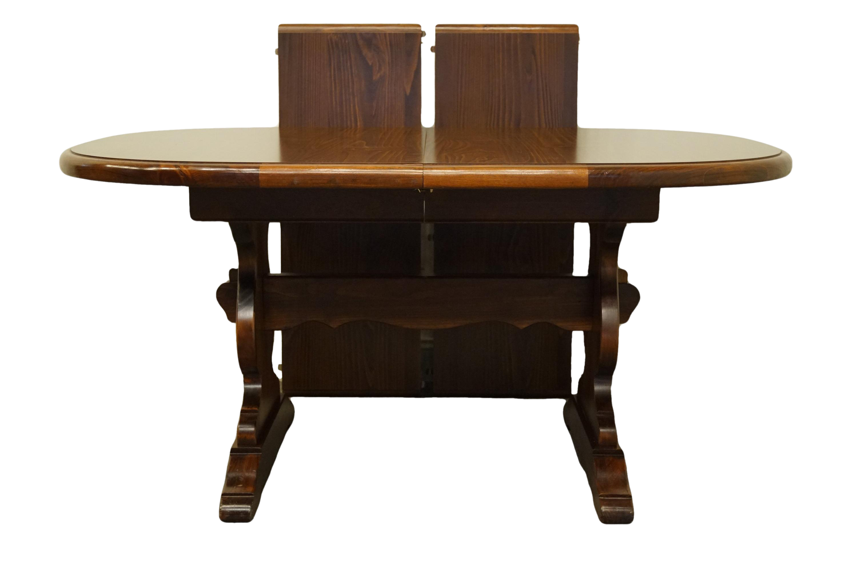 Astonishing Antique Ethan Allen Pine Old Tavern 90 Trestle Dining Table Gmtry Best Dining Table And Chair Ideas Images Gmtryco