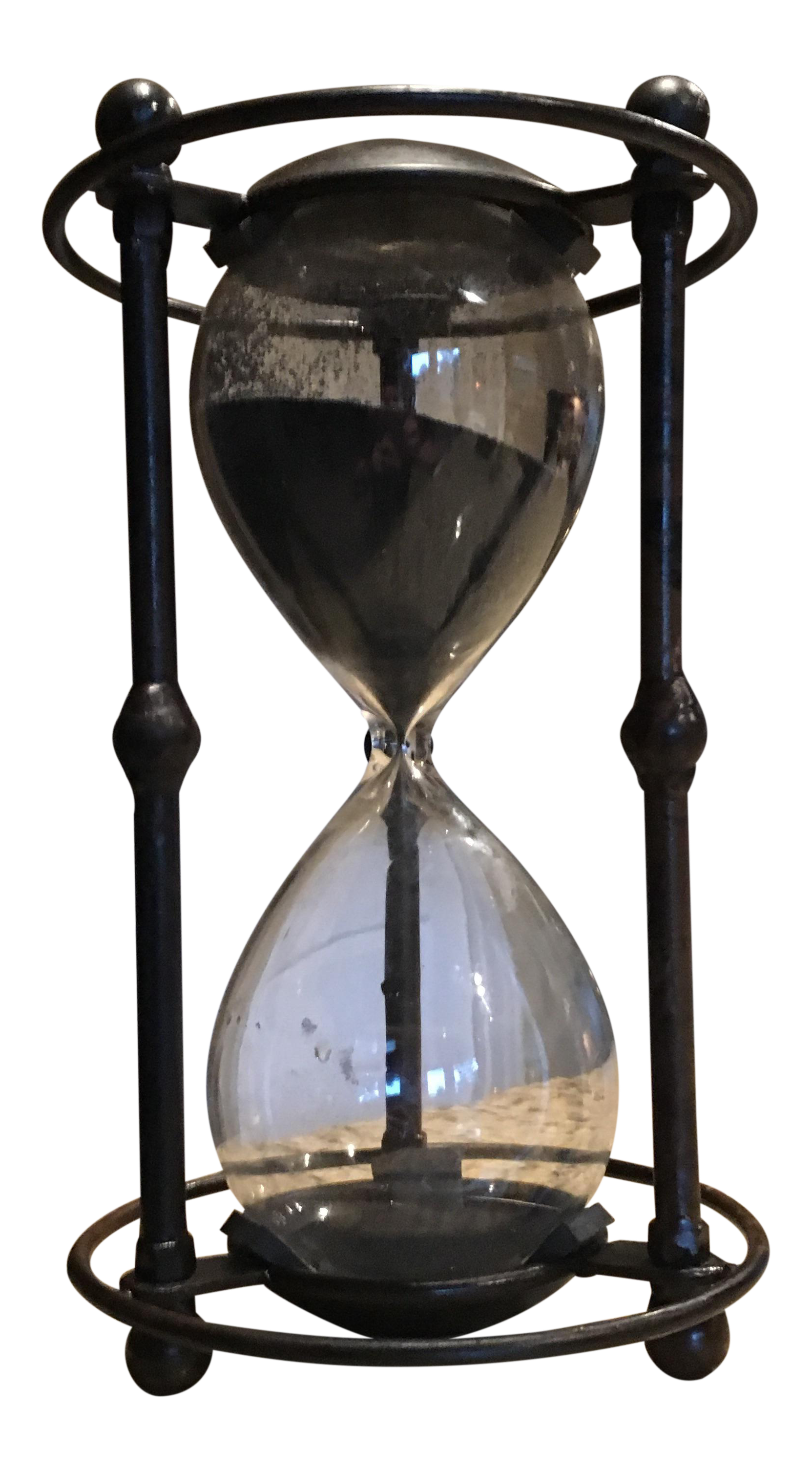 Vintage Steampunk Black Sand Hourglass Chairish
