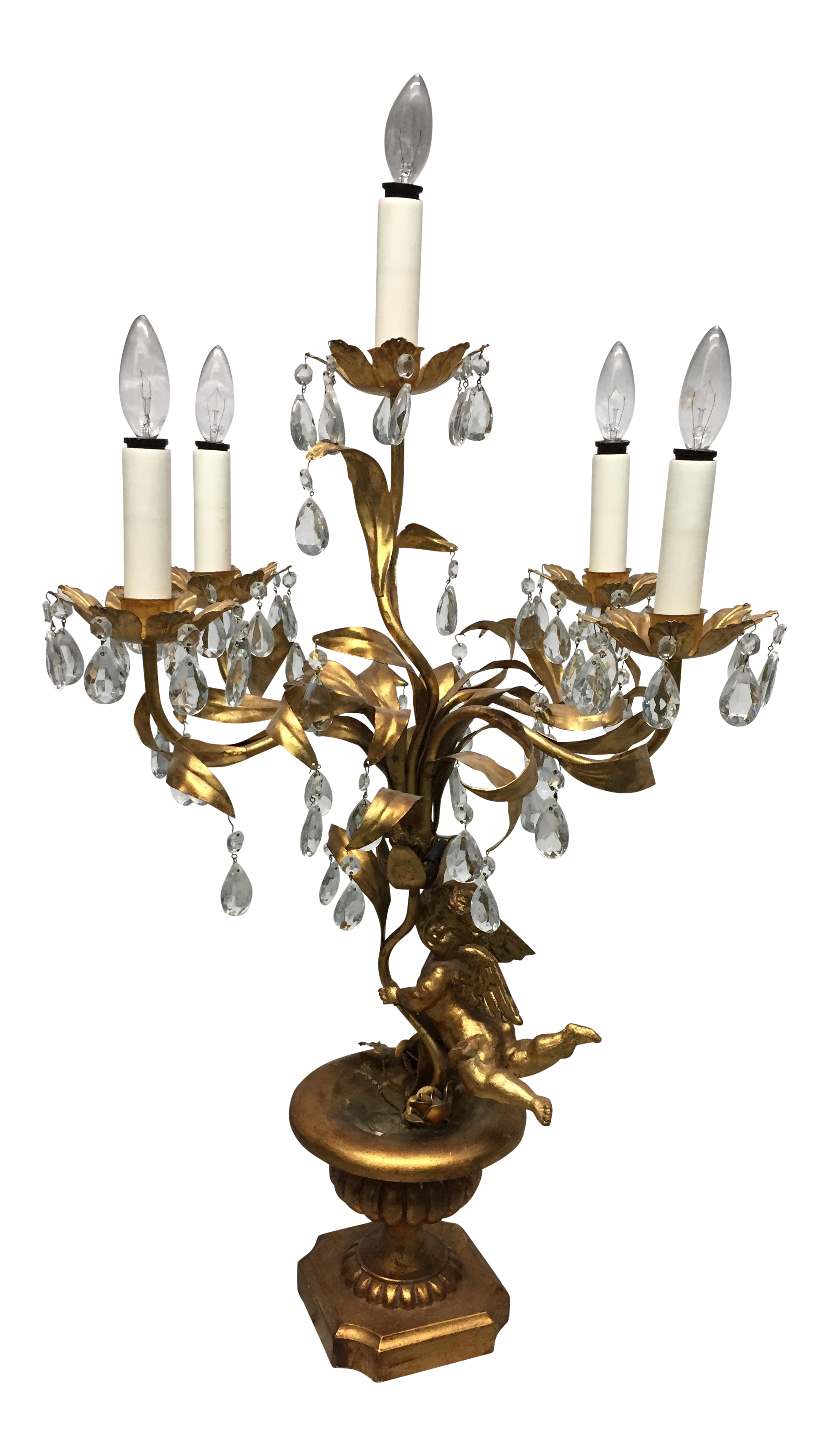 Gold Chandelier Table Lamp Chairish