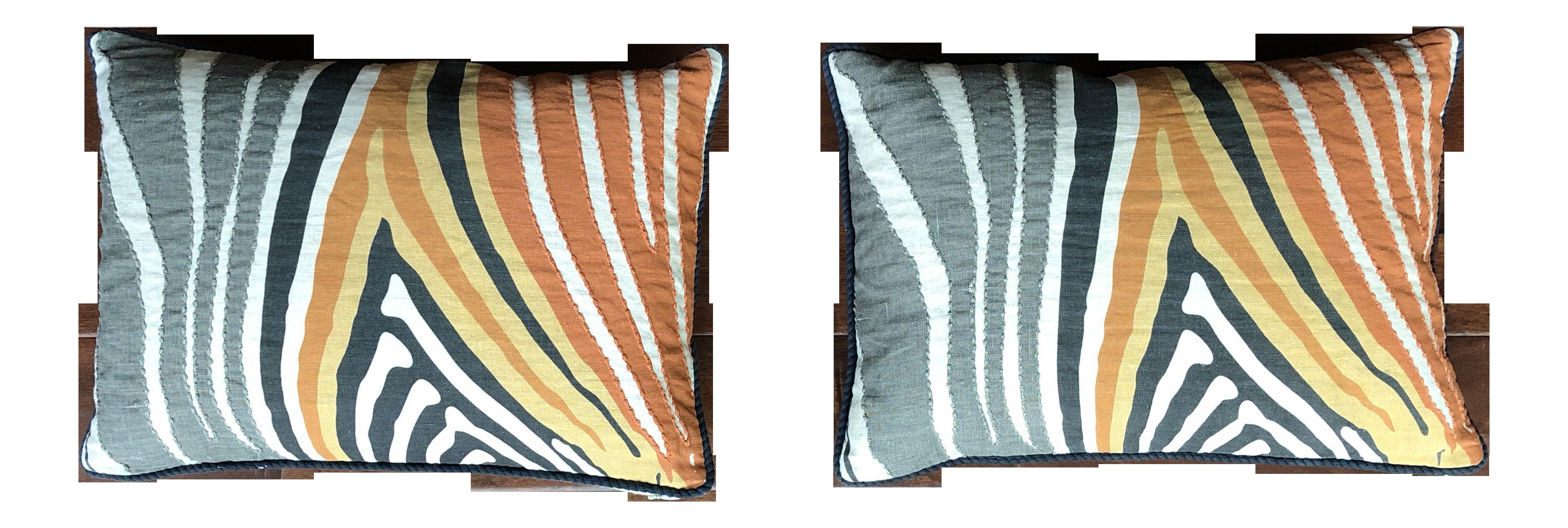 Astonishing Mario Villa Zebra Throw Pillows A Pair Uwap Interior Chair Design Uwaporg