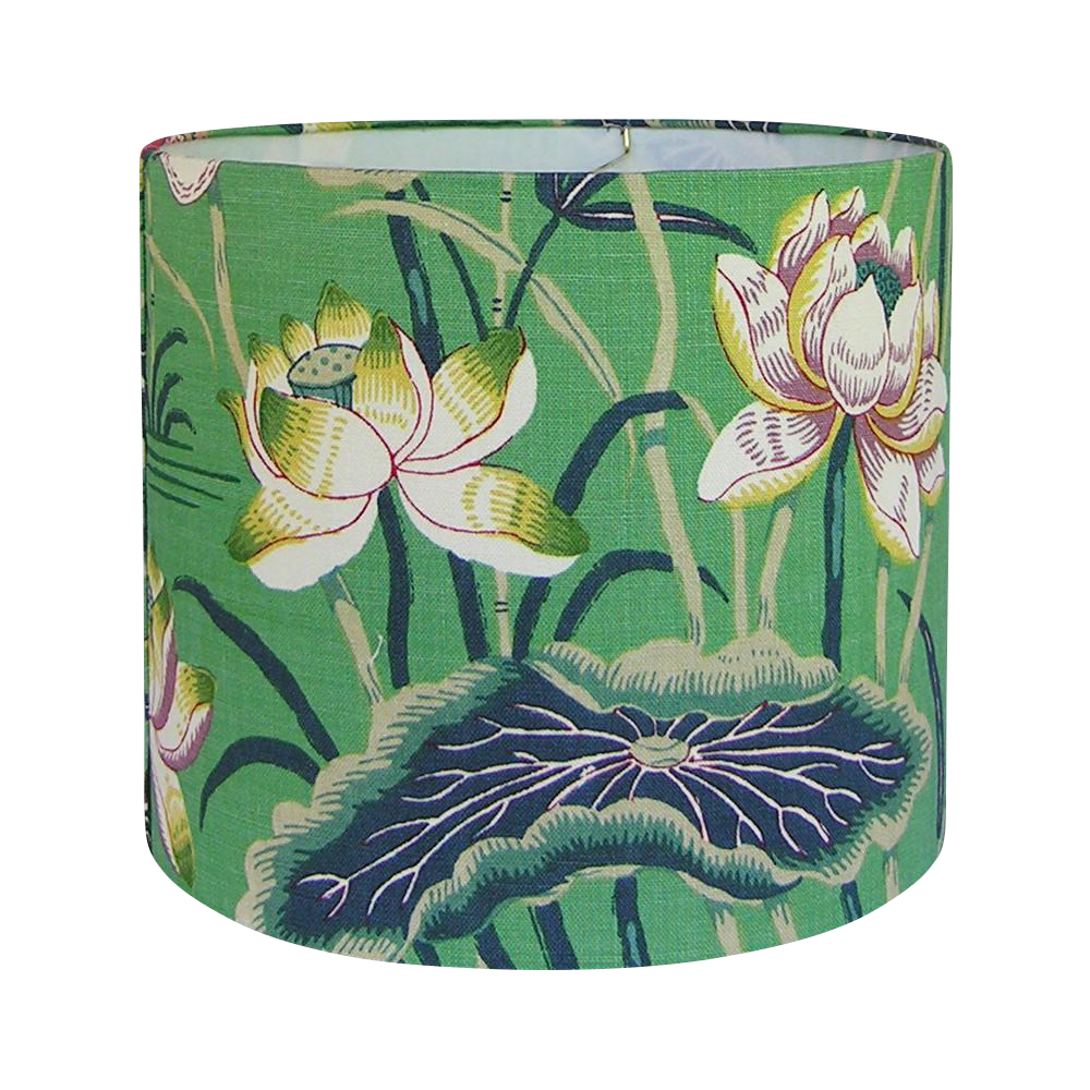 Medium Drum Lamp Shade, Made With Schumacher\'s Lotus Garden Fabric ...