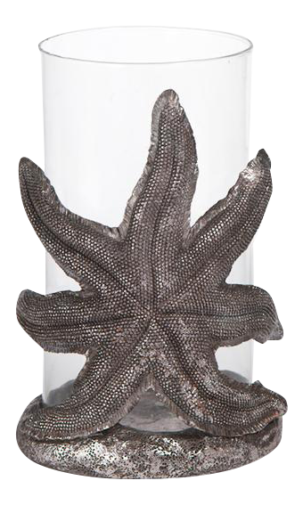 starfish hurricane candle holder chairish With kitchen cabinet trends 2018 combined with starfish candle holders