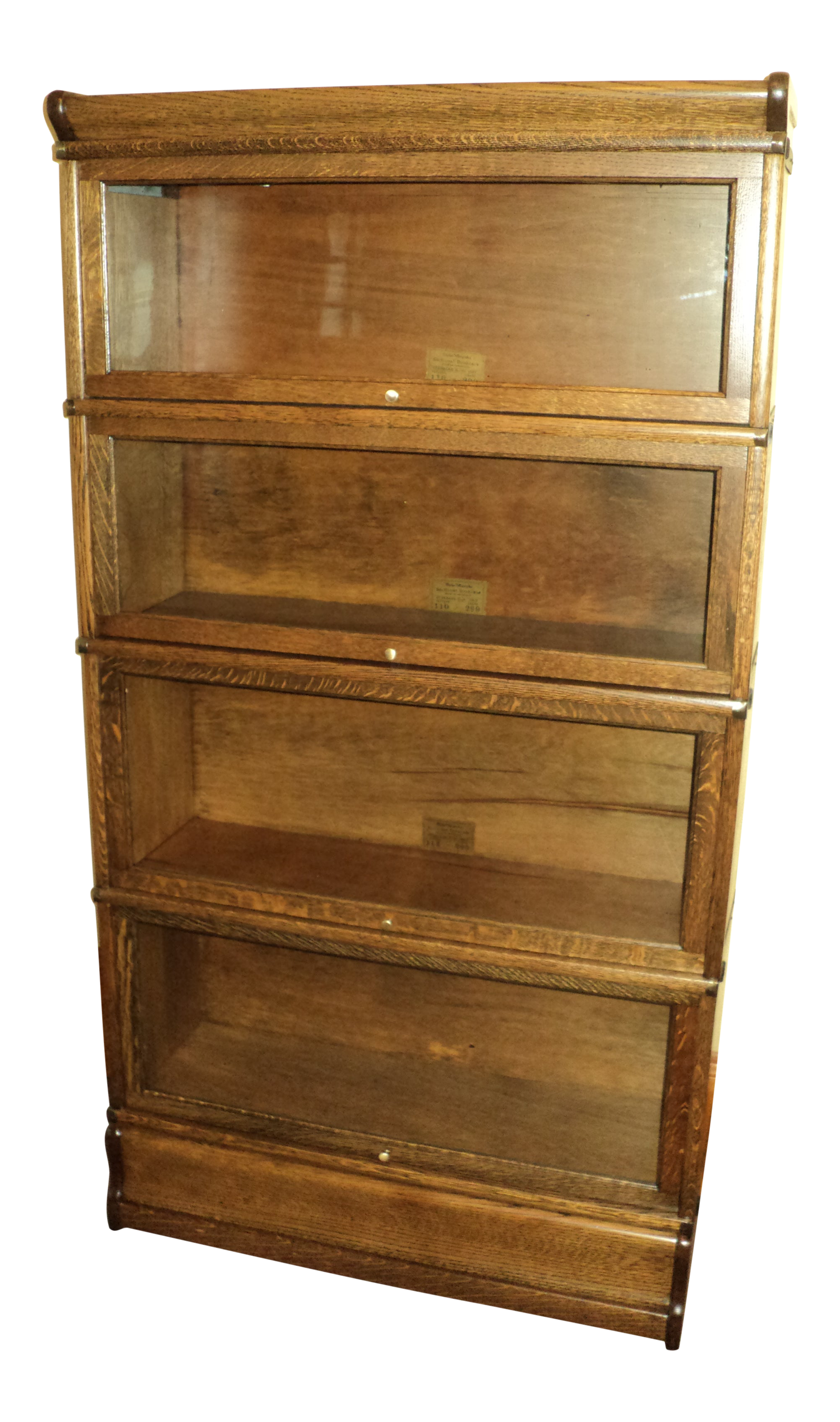 Antique Oak Lawyer Barrister Stack Bookcase