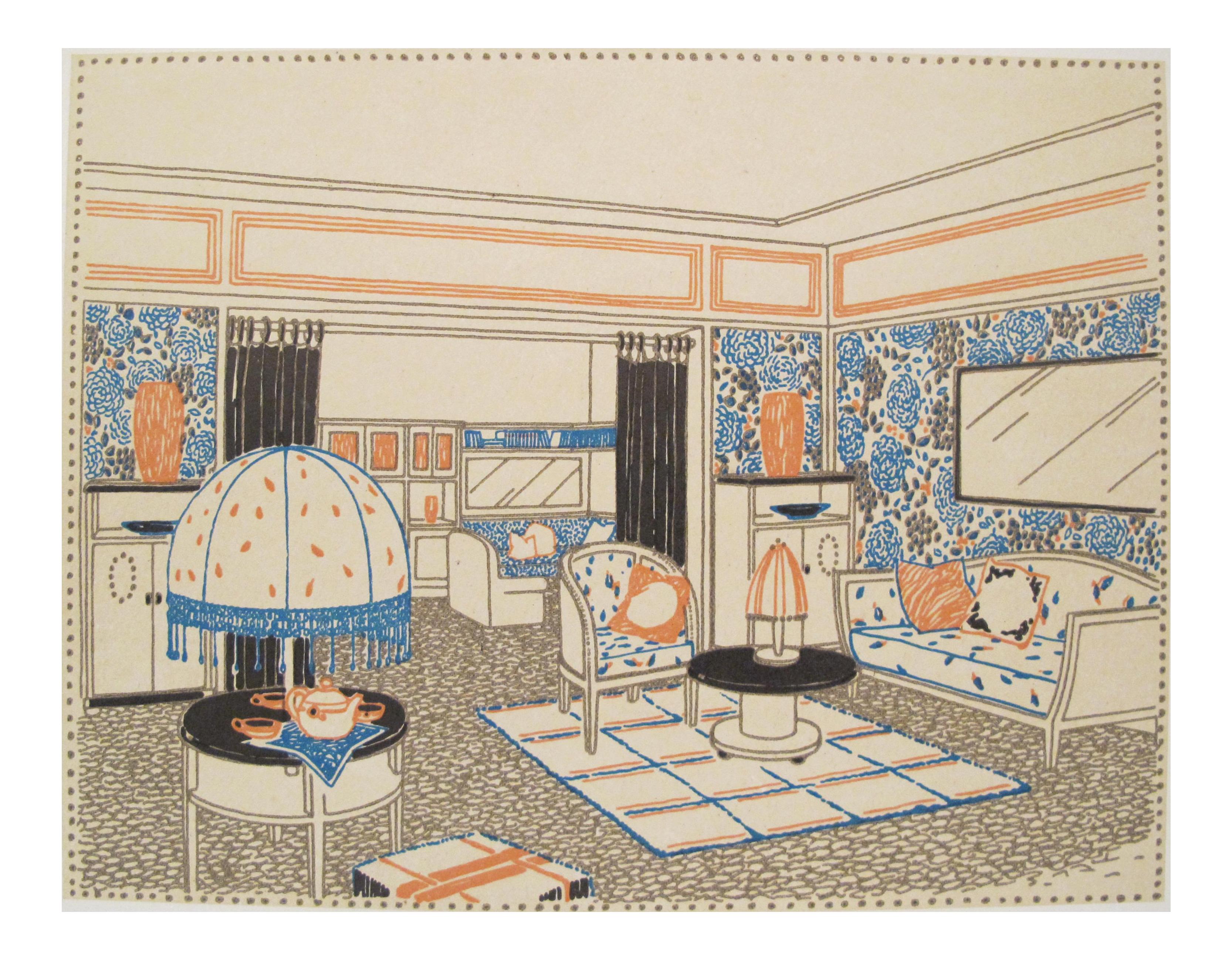 Magazine Art Et Décoration 1920s french art deco interior design sheetfrancis jourdain