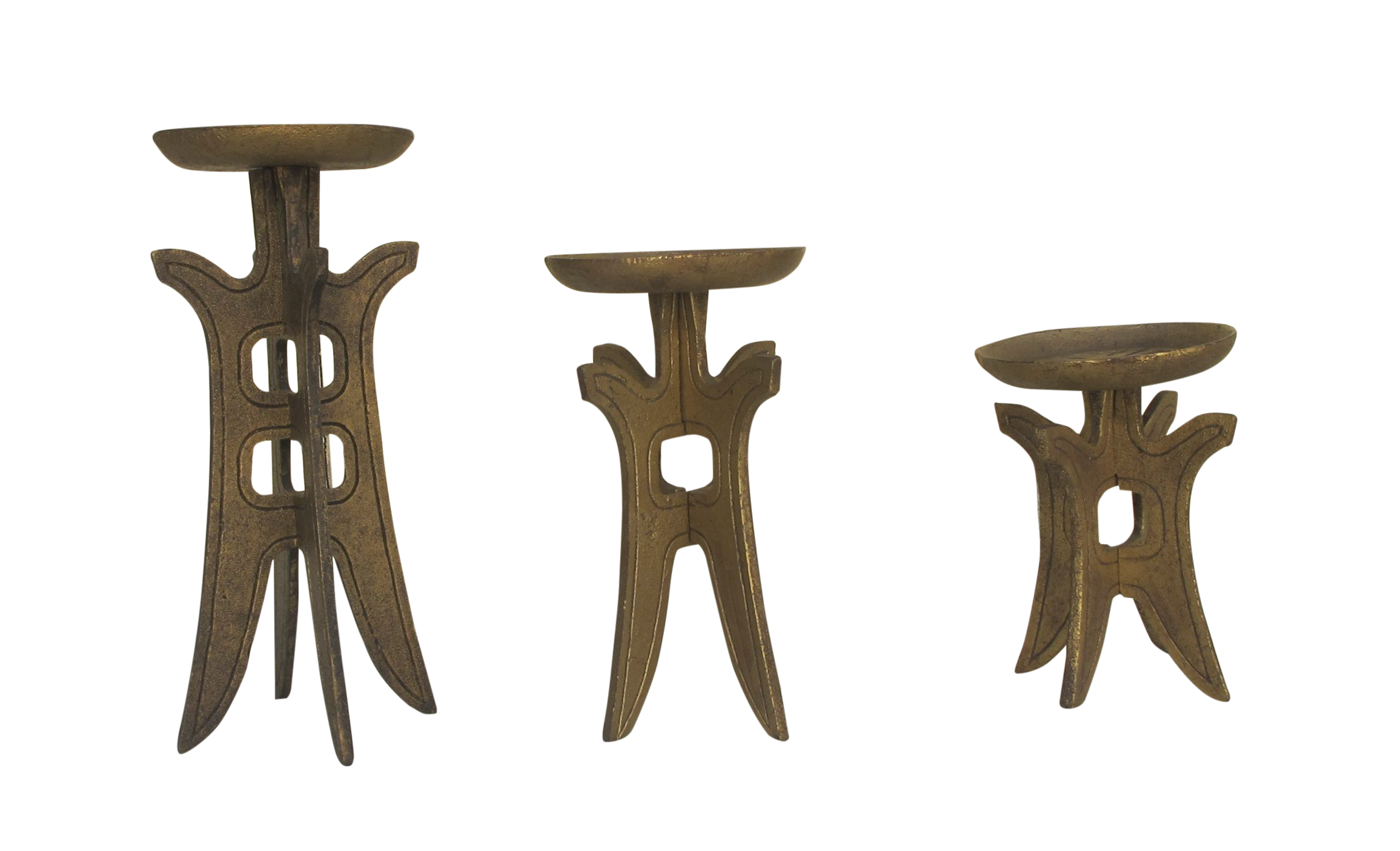 1960s asian style candle holders set of 3 chairish With kitchen cabinet trends 2018 combined with japanese candle holders