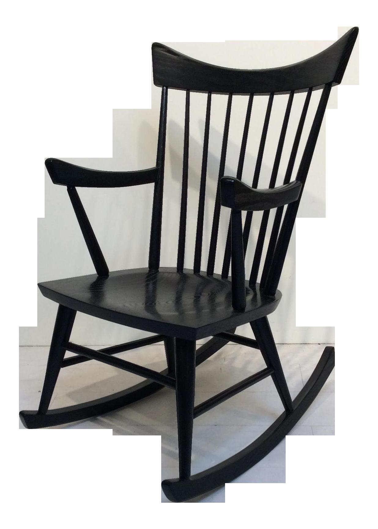 Picture of: Mid Century Modern Edmond Spence Style Black Rocking Chair Chairish