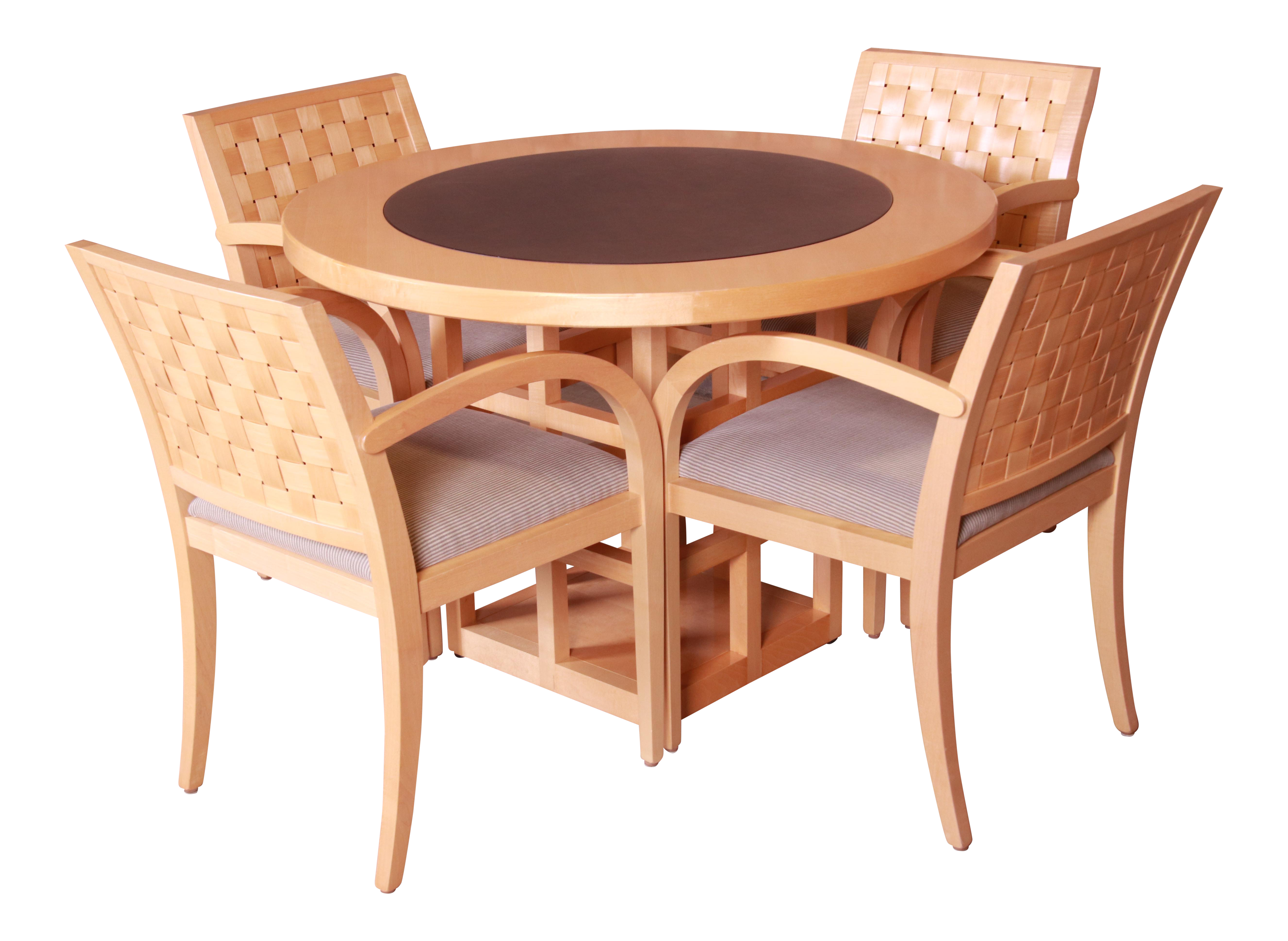 Geiger Brickel Modern Dining Or Game Table And Chairs Set Chairish