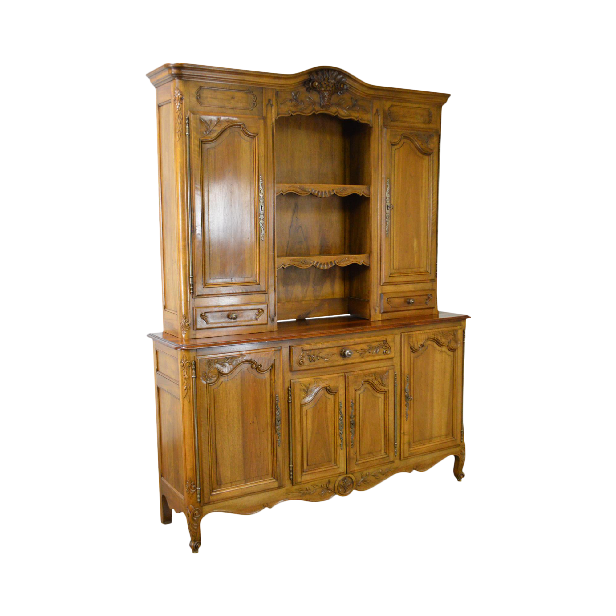 manor home magnolia garden today overstock free antique hutch shipping buffet and white product