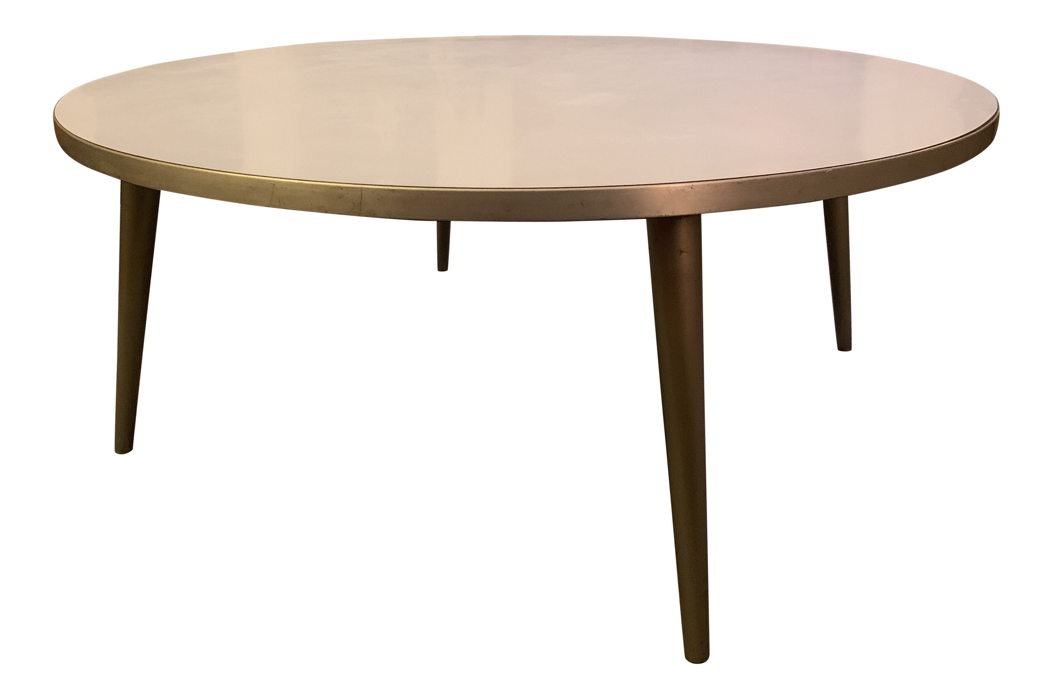 - 1950s Vintage Round Low Top Coffee Table Chairish