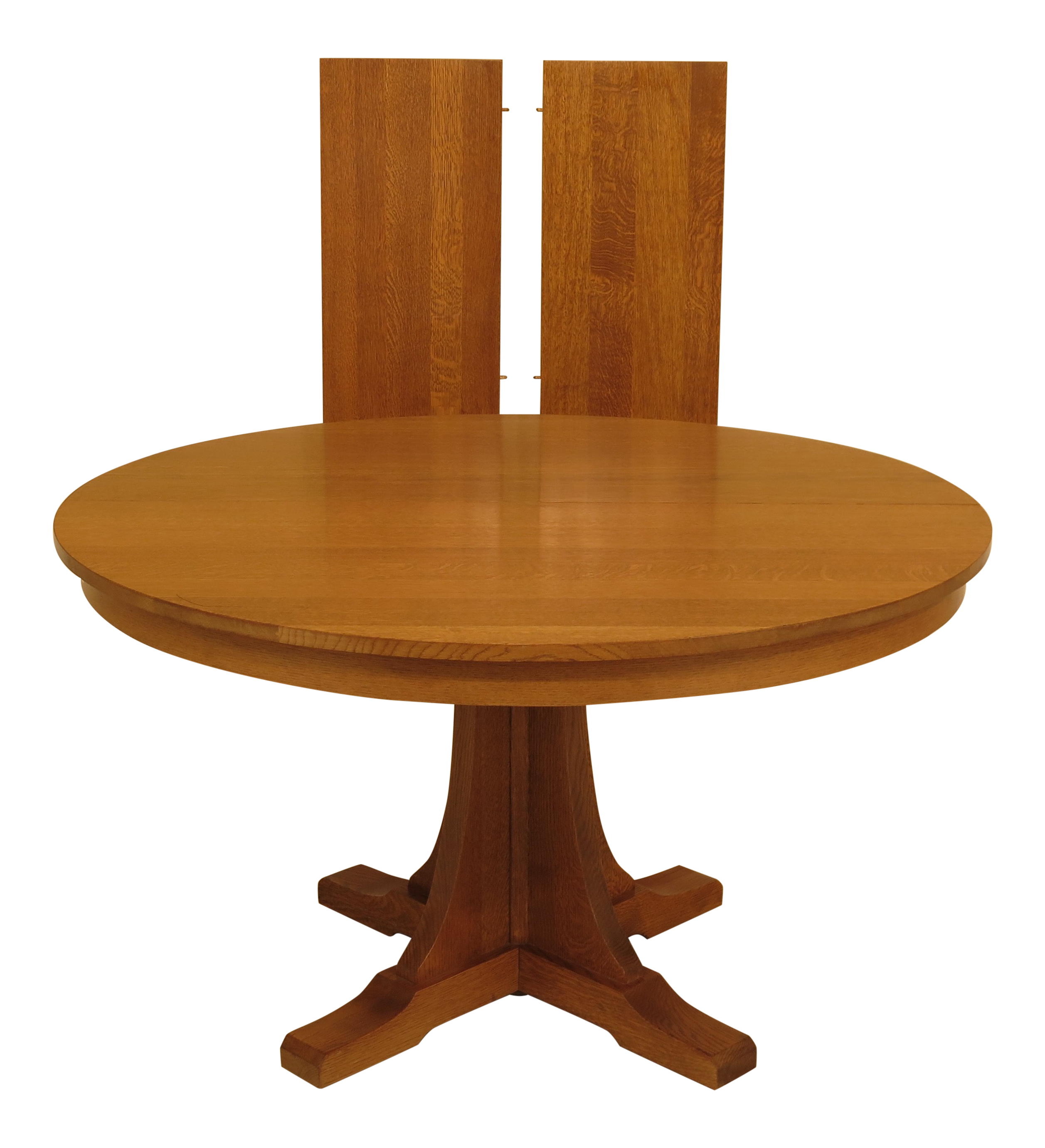 1990s Mission Stickley Round Oak Dining Table Chairish