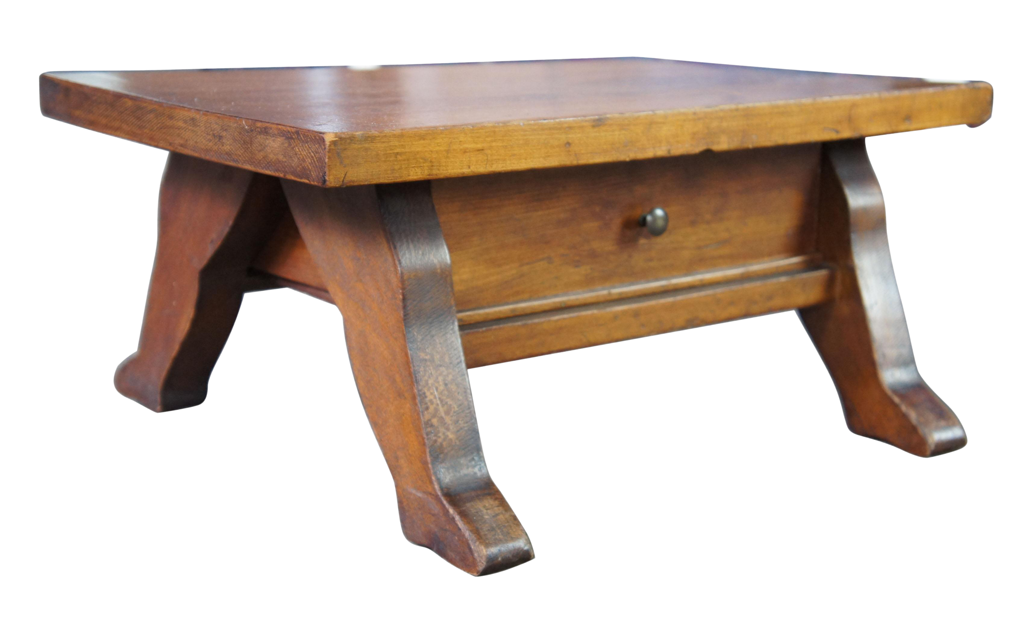 Antique Early American Style Pine Foot Stool