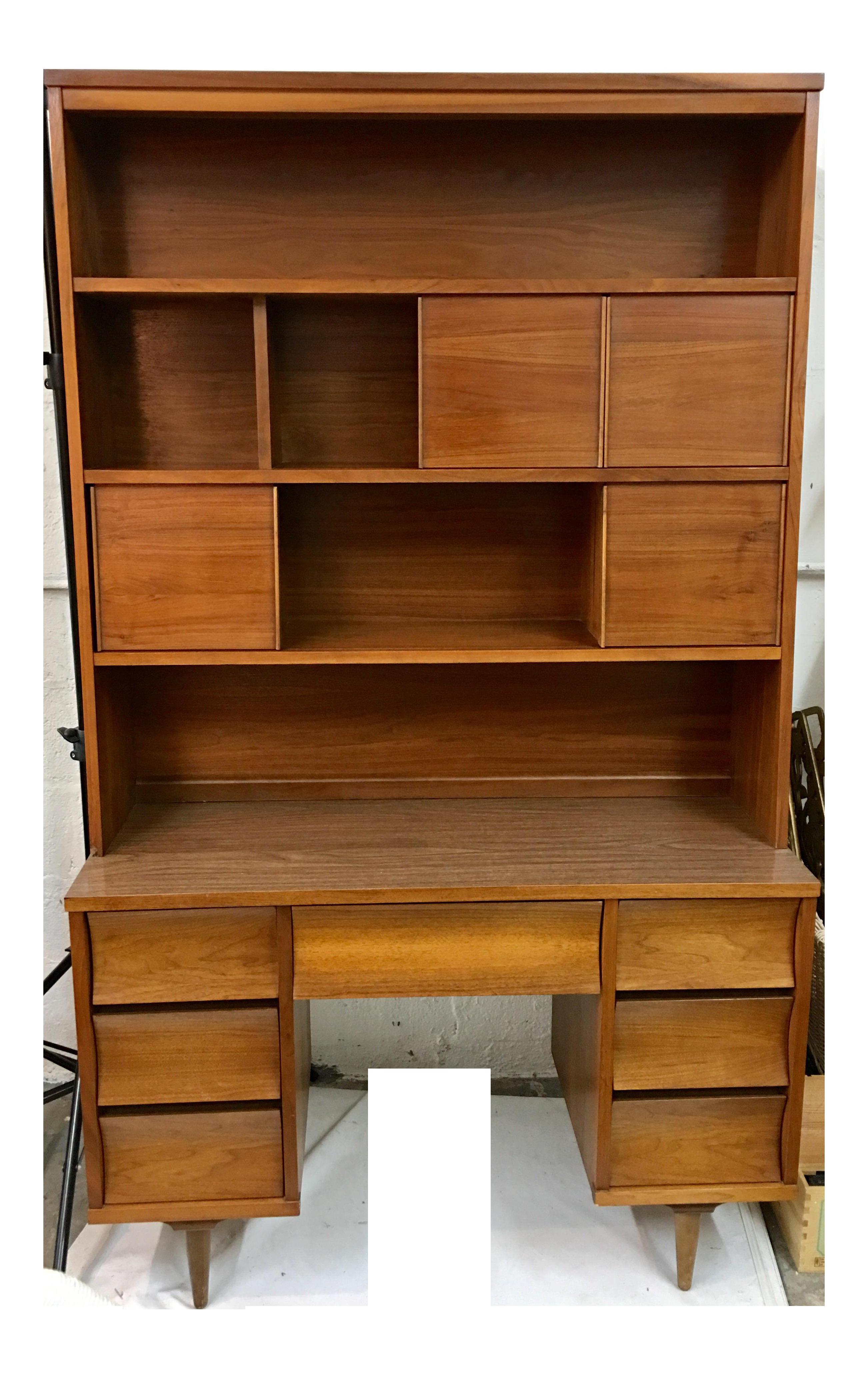 Image of: Mid Century Desk Hutch Chairish