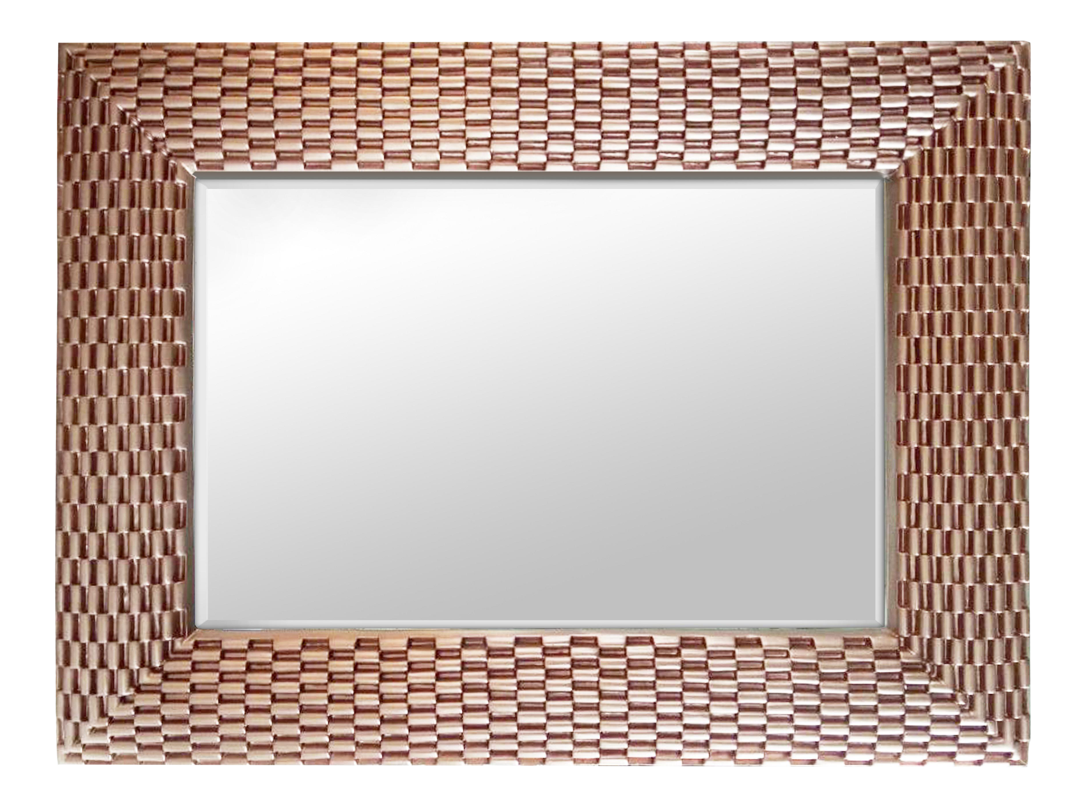 Basket Weave Style Large Rose Gold Wall Mirror Chairish