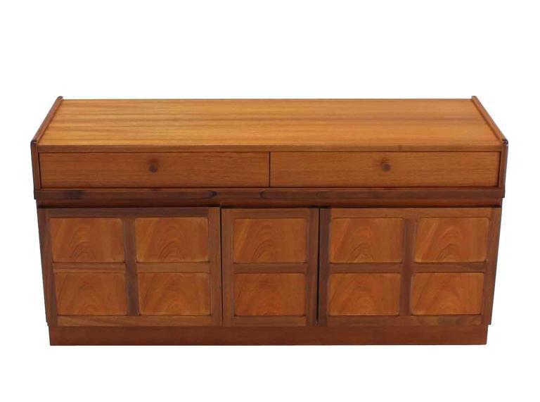 Small Danish Credenza : Superior small danish modern teak credenza with file cabinet