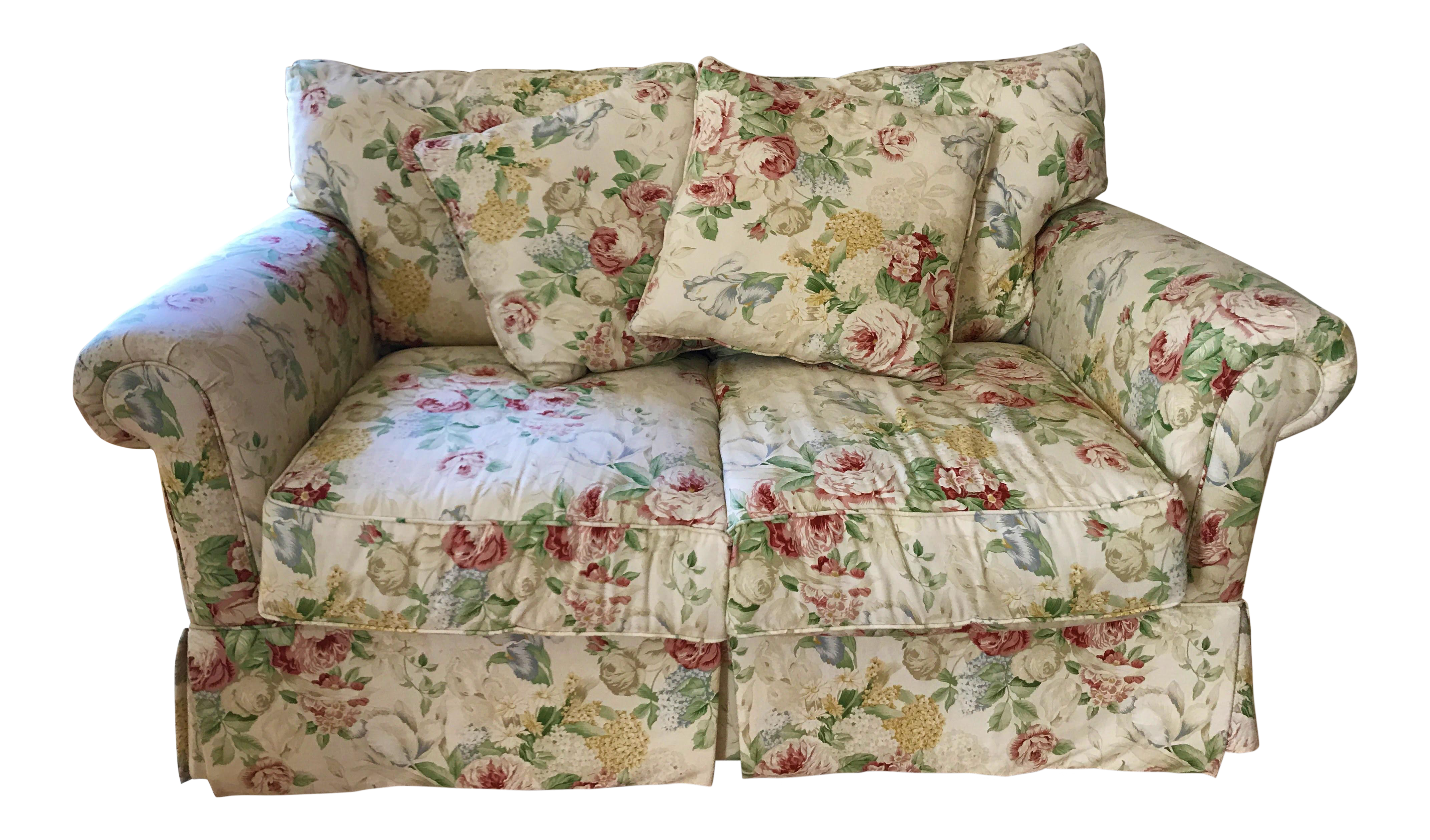 loveseats floral pattern sofas p image traditional fabric loveseat and set sofa