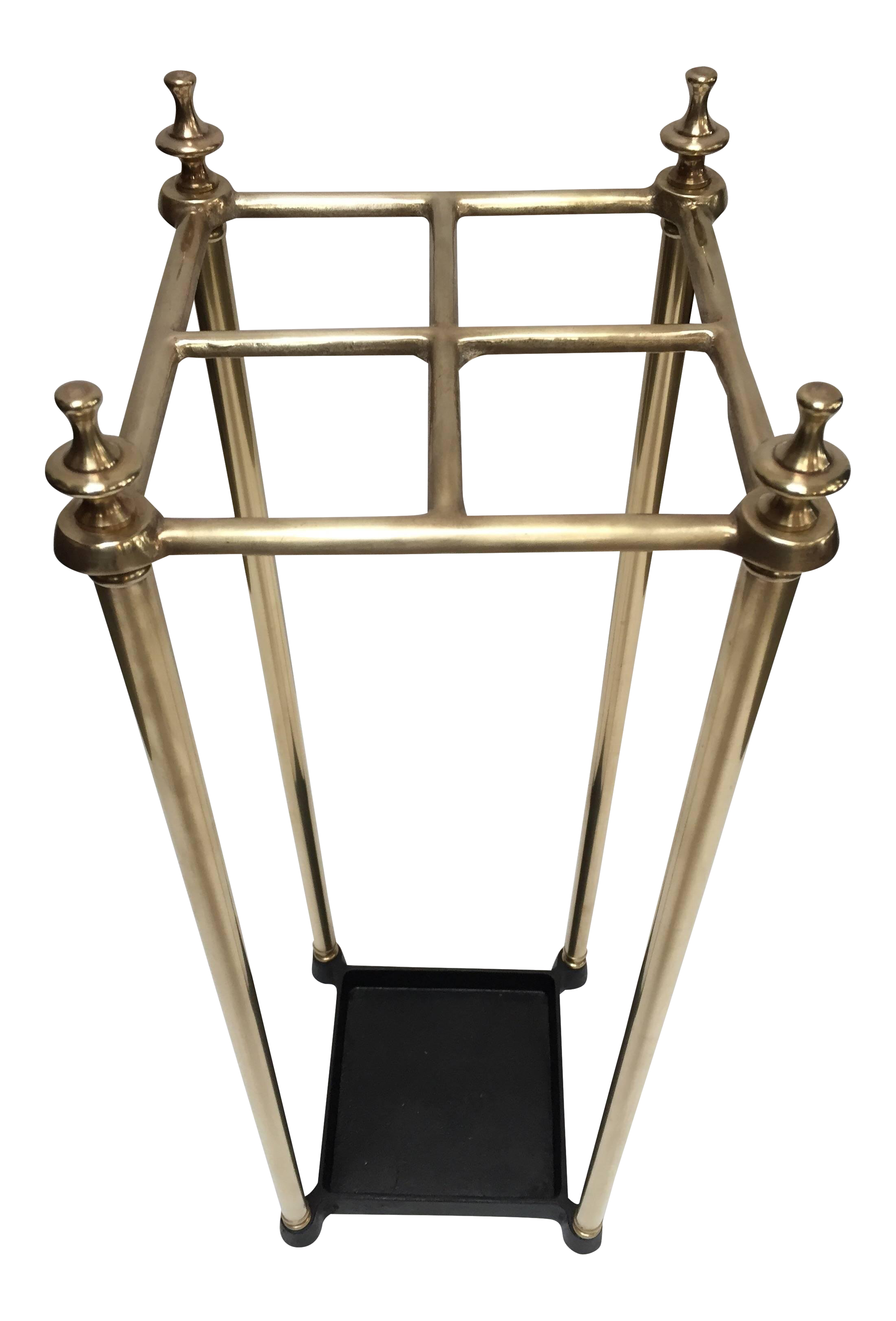 superb victorian polished brass and cast iron umbrella stand valet Wrought Iron Umbrella Base