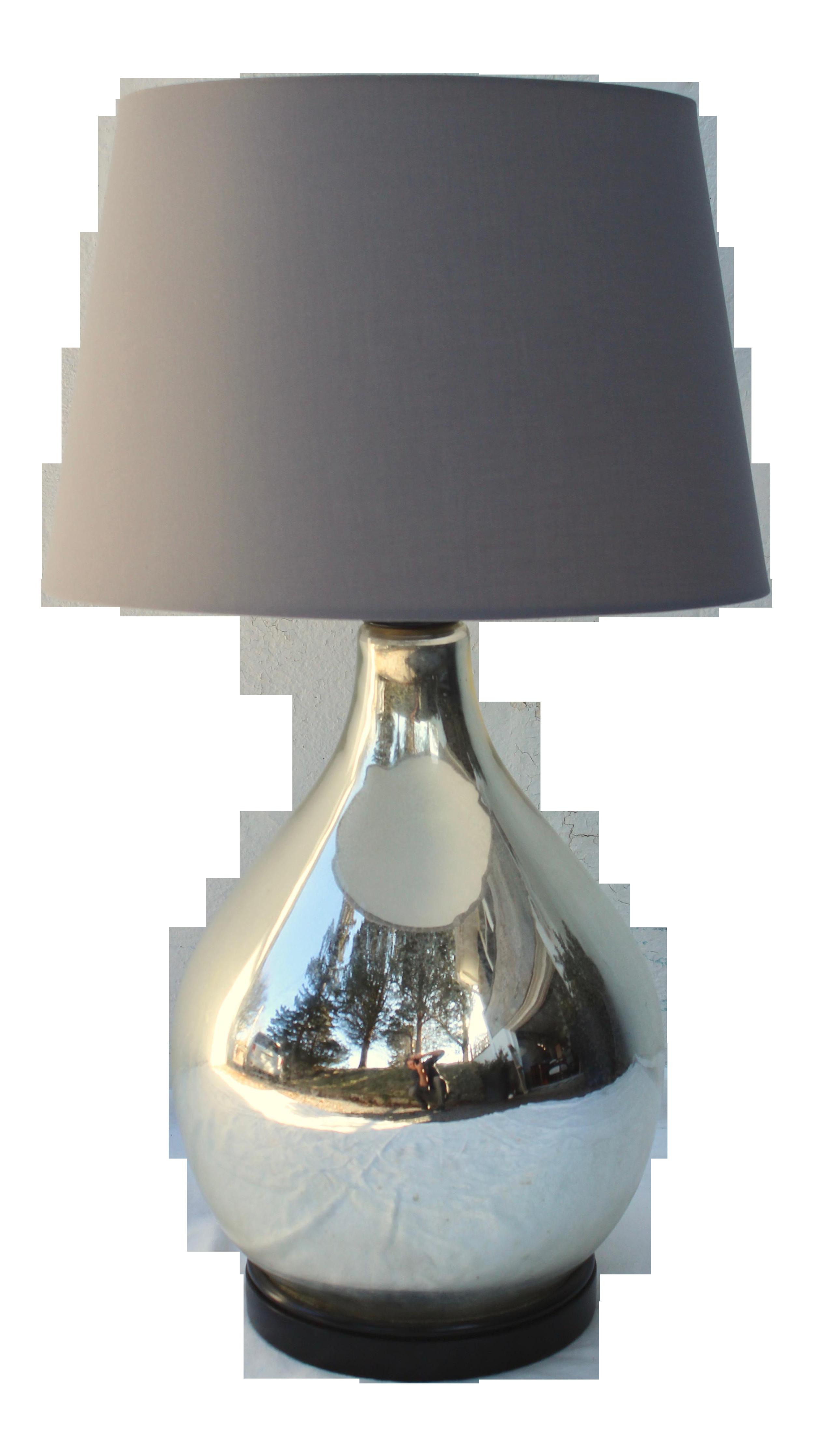 Image of: Large Vintage Mercury Glass Table Lamp Chairish