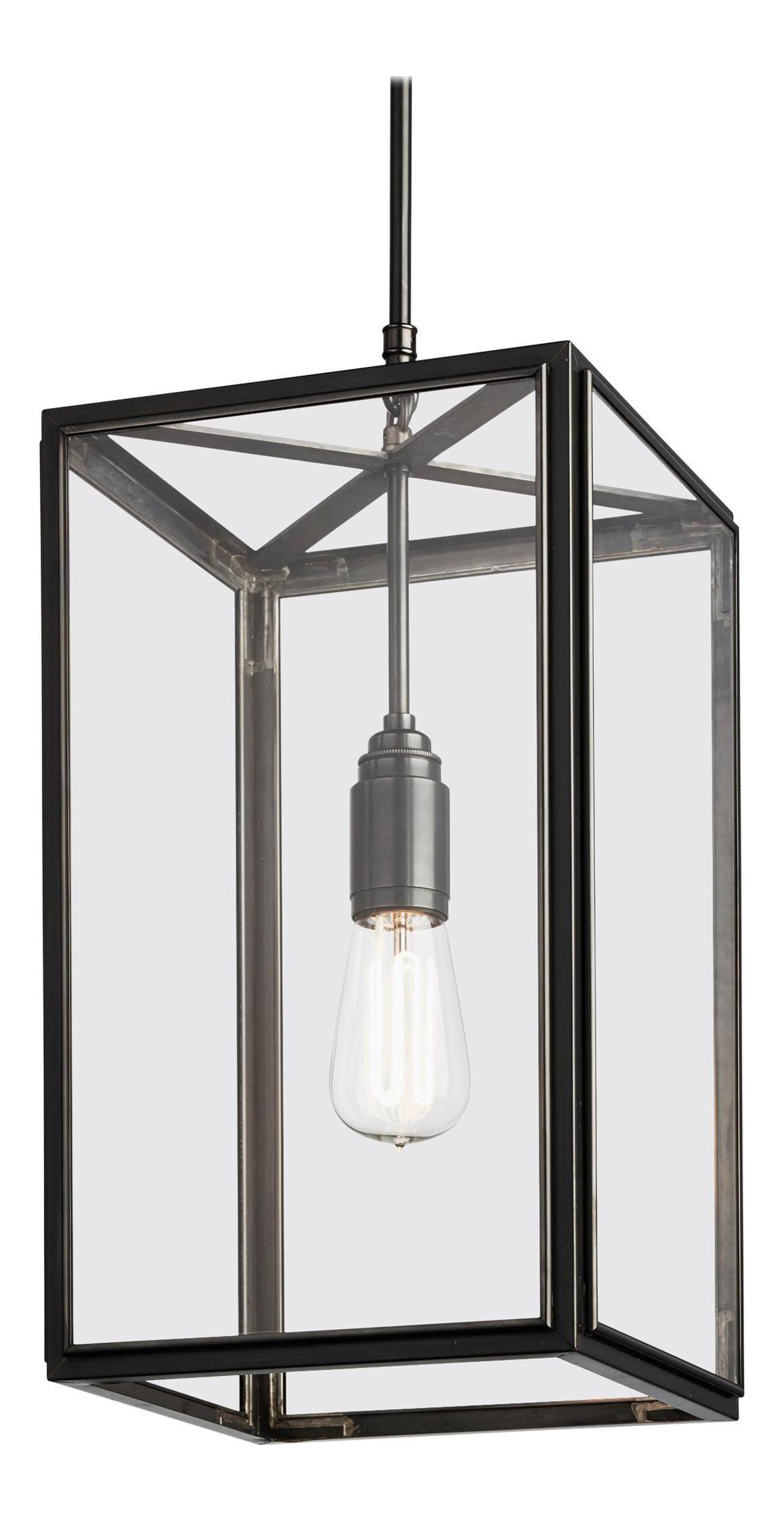 Tekna Ilford C Pendant Light With Dark Bronze Finish And Clear Glass Chairish