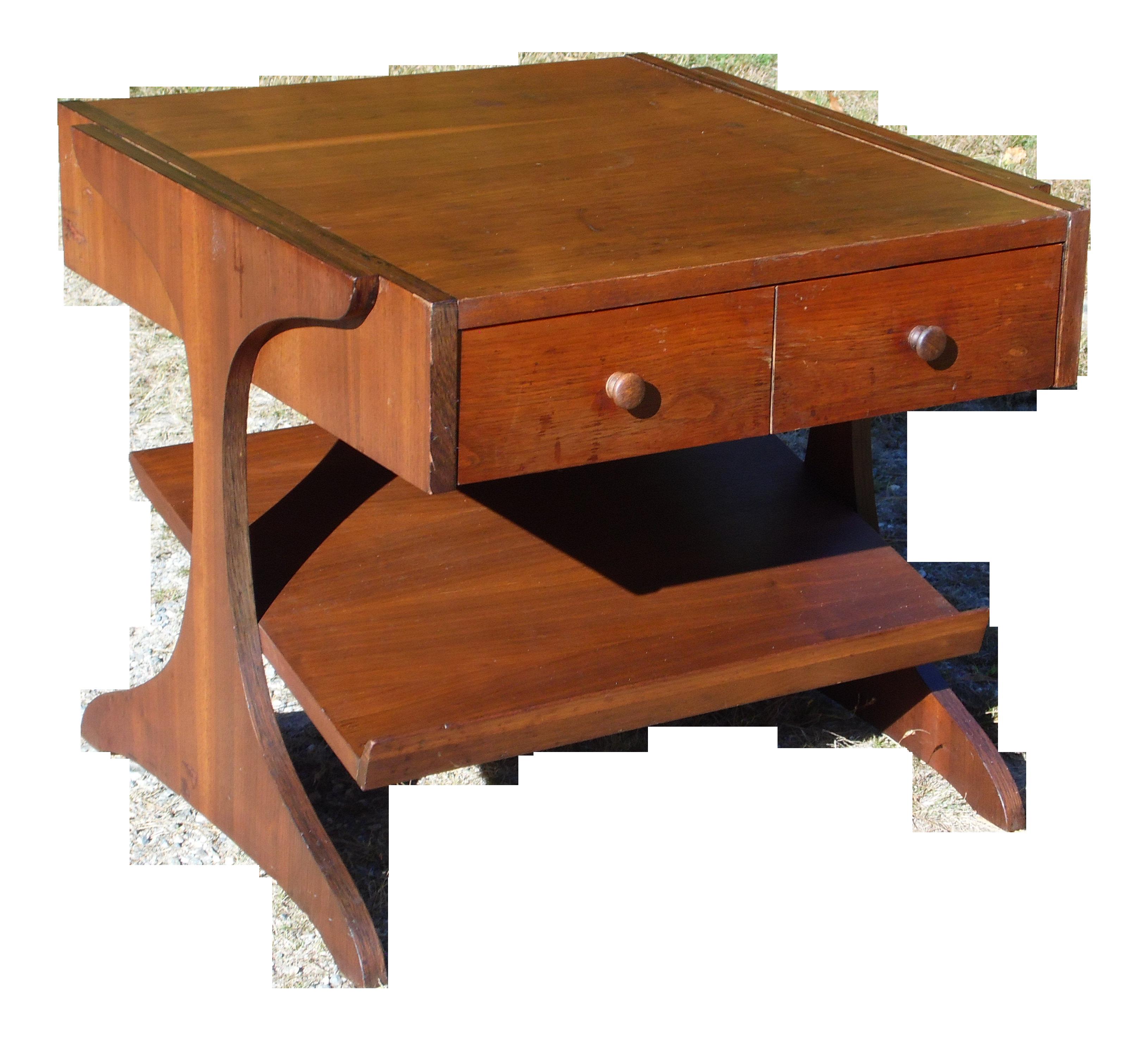 Vintage Mid Century Modern Walnut Kroehler Magazine Rack End Table Night Stand Chairish