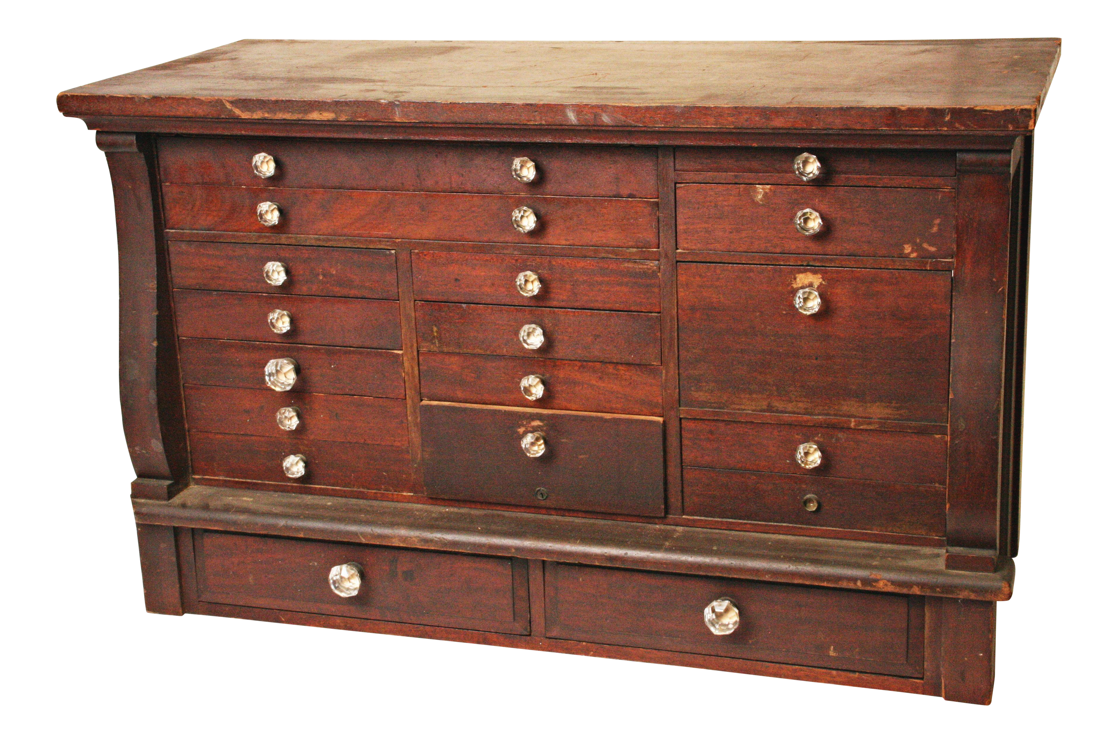 Antique Wood Apothecary Cabinet