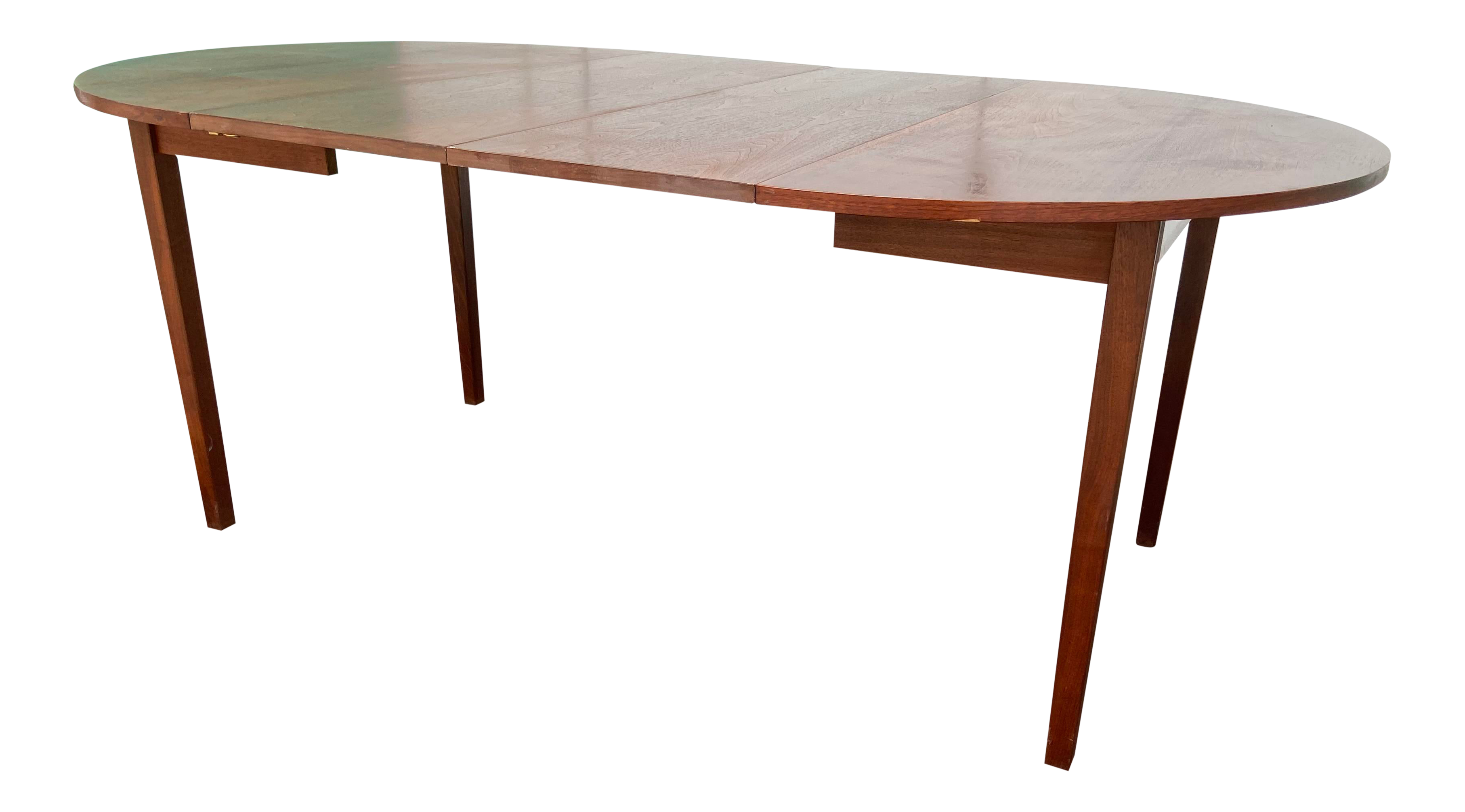 Mid Century Modern Round Dining Table With 9 Leaves