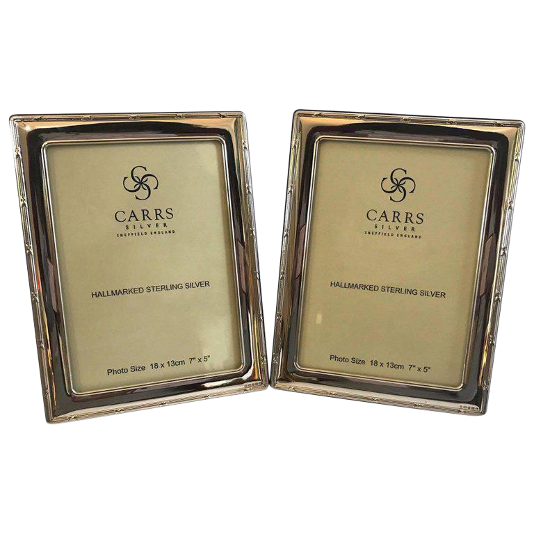 Sterling Silver Frame\'s Carrs of Sheffield Frames - A Pair | Chairish
